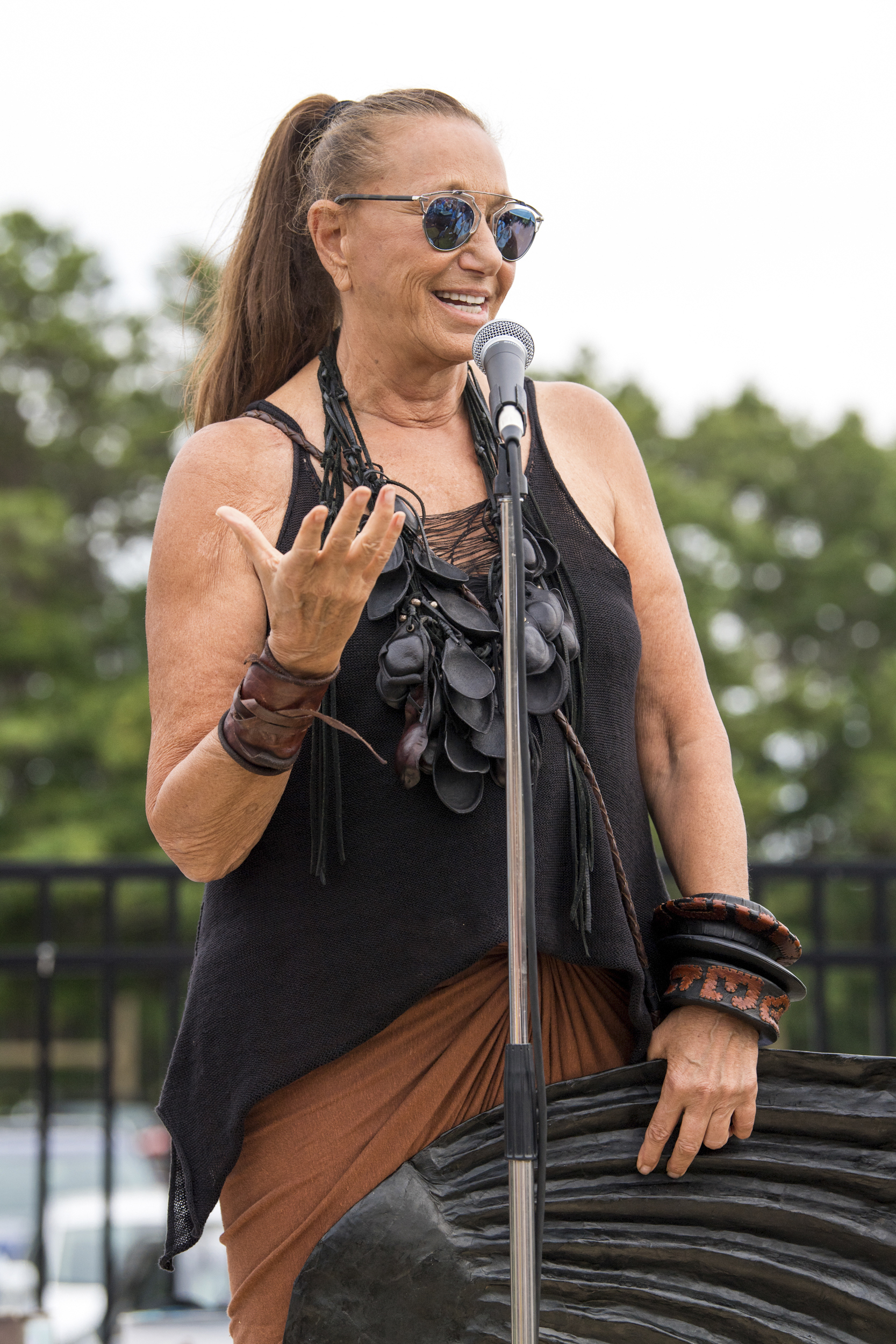 Donna Karan at the 4th Annual Hamptons Artists for Haiti Benefit Bash on August 7.          Joelle Wiggins
