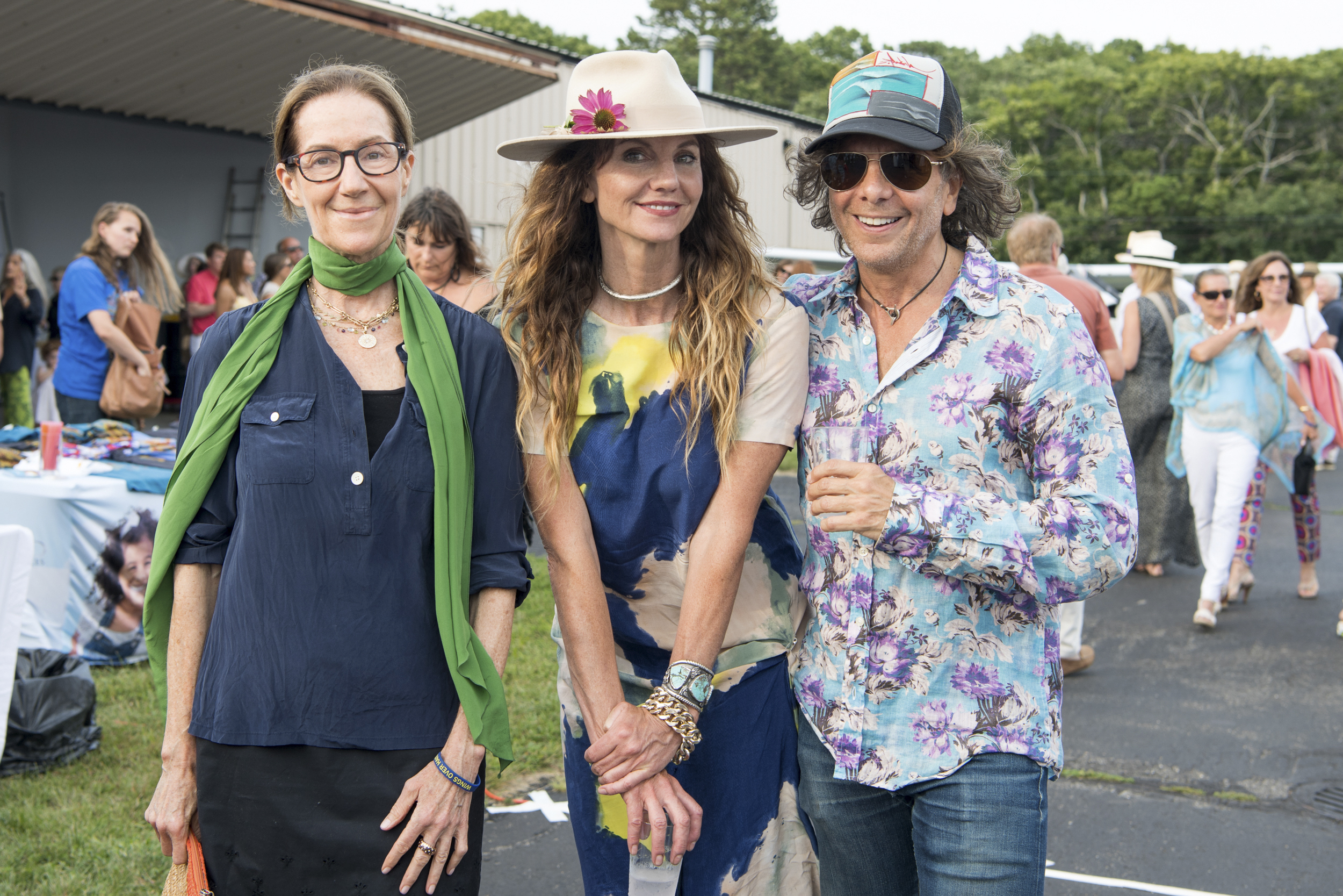 Jenny Landey, Mary Ellen Matthews and Bobby Golden at the 4th Annual Hamptons Artists for Haiti Benefit Bash on August 7.          Joelle Wiggins