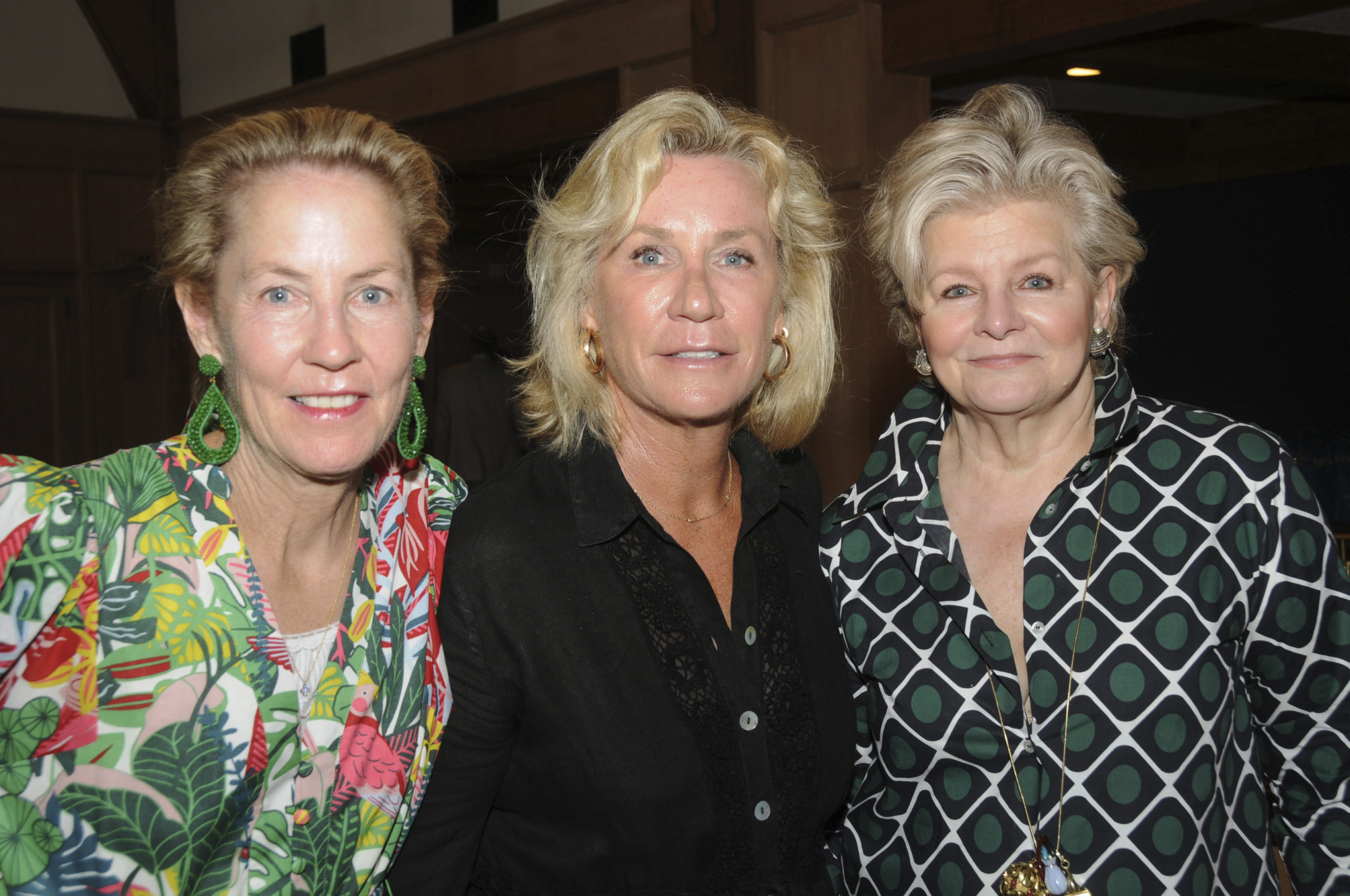 Christine Kennedy, Hollis Forbes and Charlotte Moss at the the East Hampton Historical Society's  annual Summer Lecture Luncheon, held at the Maidstone Club featuring guest speaker architect Perry Guillot.   RICHARD LEWIN