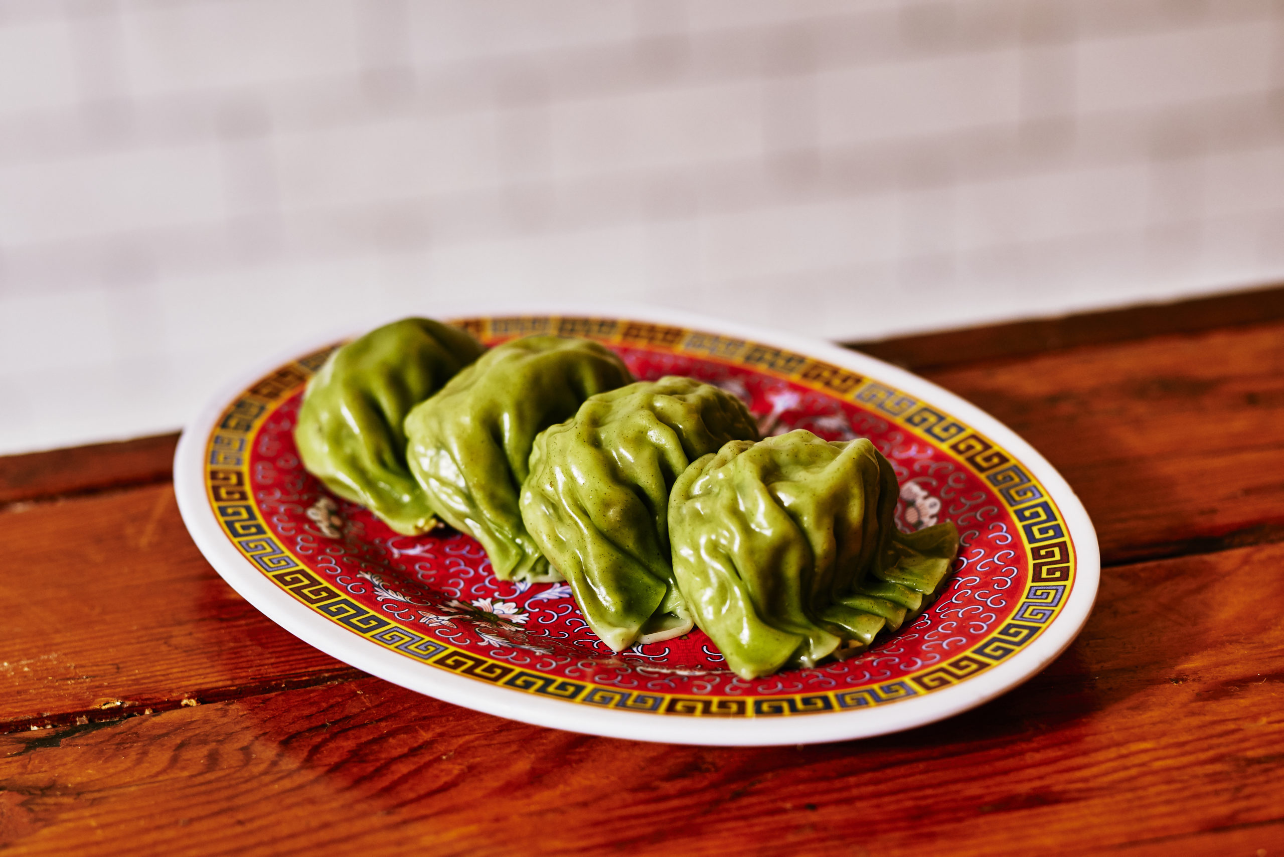 Nom Wah's edamame and Chinese chive dumplings.