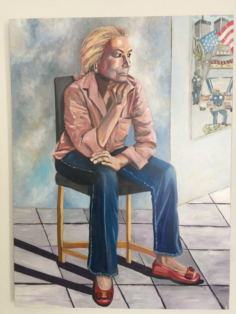 A self portrait by Doris Caridi.