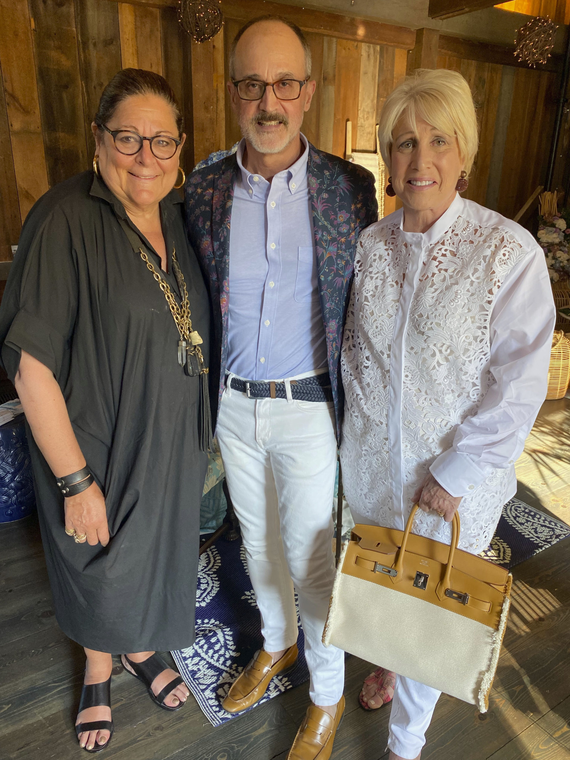 Fern Mallis, Arthur Dunnam and Susan P. Friedman at the Holiday House Tabletop event.  GREG DELIA