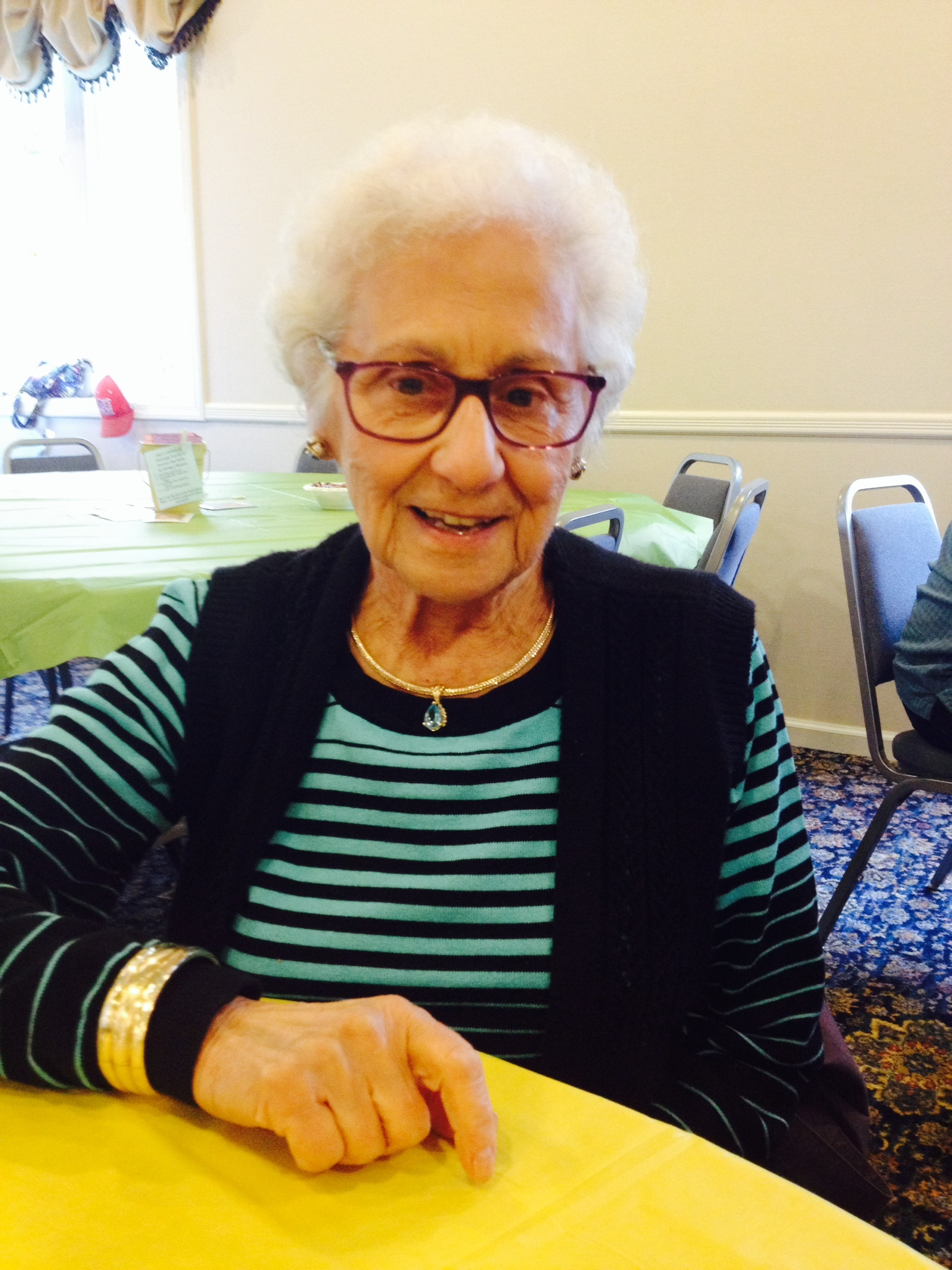 Margaret Carlucci, of Hampton Bays, will turn 100 years young this week. Welcome to the centurion club, Ms. Carlucci!
