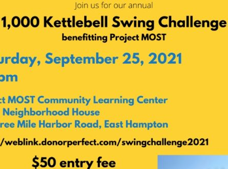 1K Kettlebell Swing Challenge, to benefit Project MOST