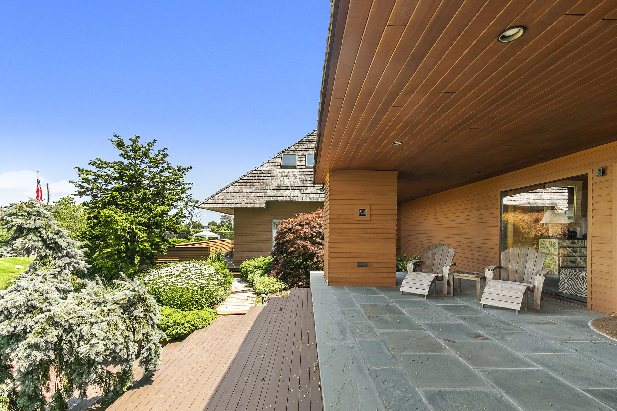 Norman Jaffe designed the estate at  2 & 4 Seascape Lane in Quogue, which is on the market for $18 million. COURTESY DOUGLAS ELLIMAN