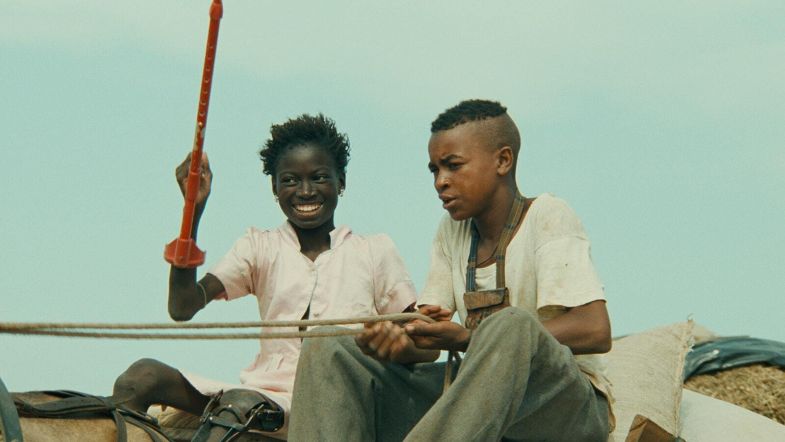 """A scene from Djibril Diop Mambéty's 1999 film """"The Little Girl Who Sold the Sun."""""""
