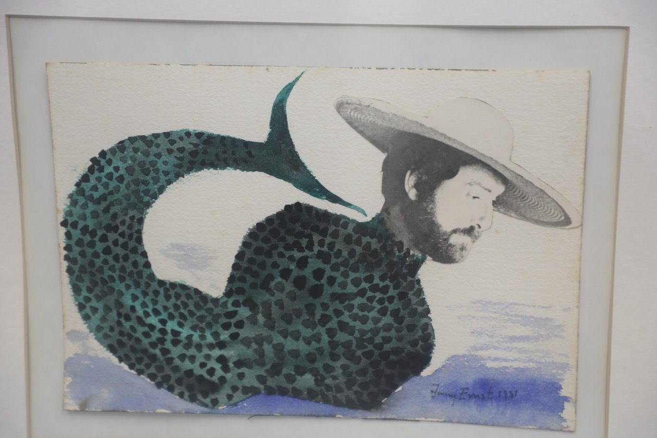A Jimmy Ernst painting of a mermaid with the head of Rocco Liccardi.