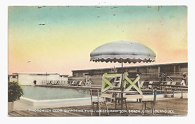 An old postcard featuring the Swordfish Beach Club.  COURTESY SWORDFISH BEACH CLUB