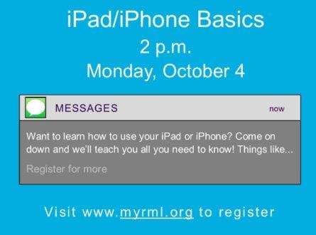 iPad/iPhone Basics (In-person)