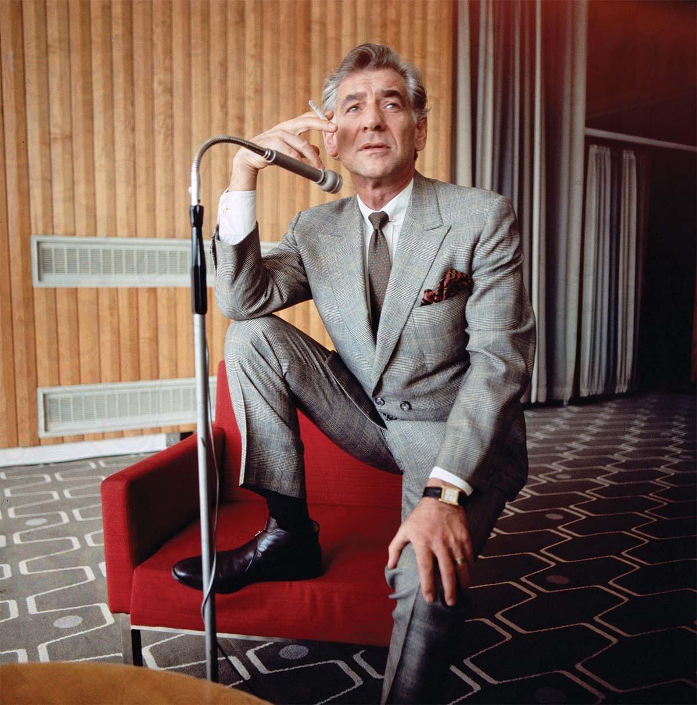 An image of Leonard Bernstein in the film