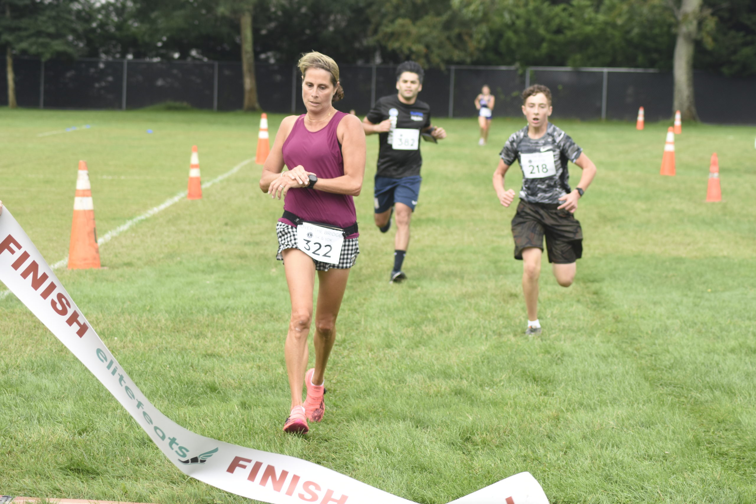 Julie Tucker of Hampton Bays was the female champion of the 5K.