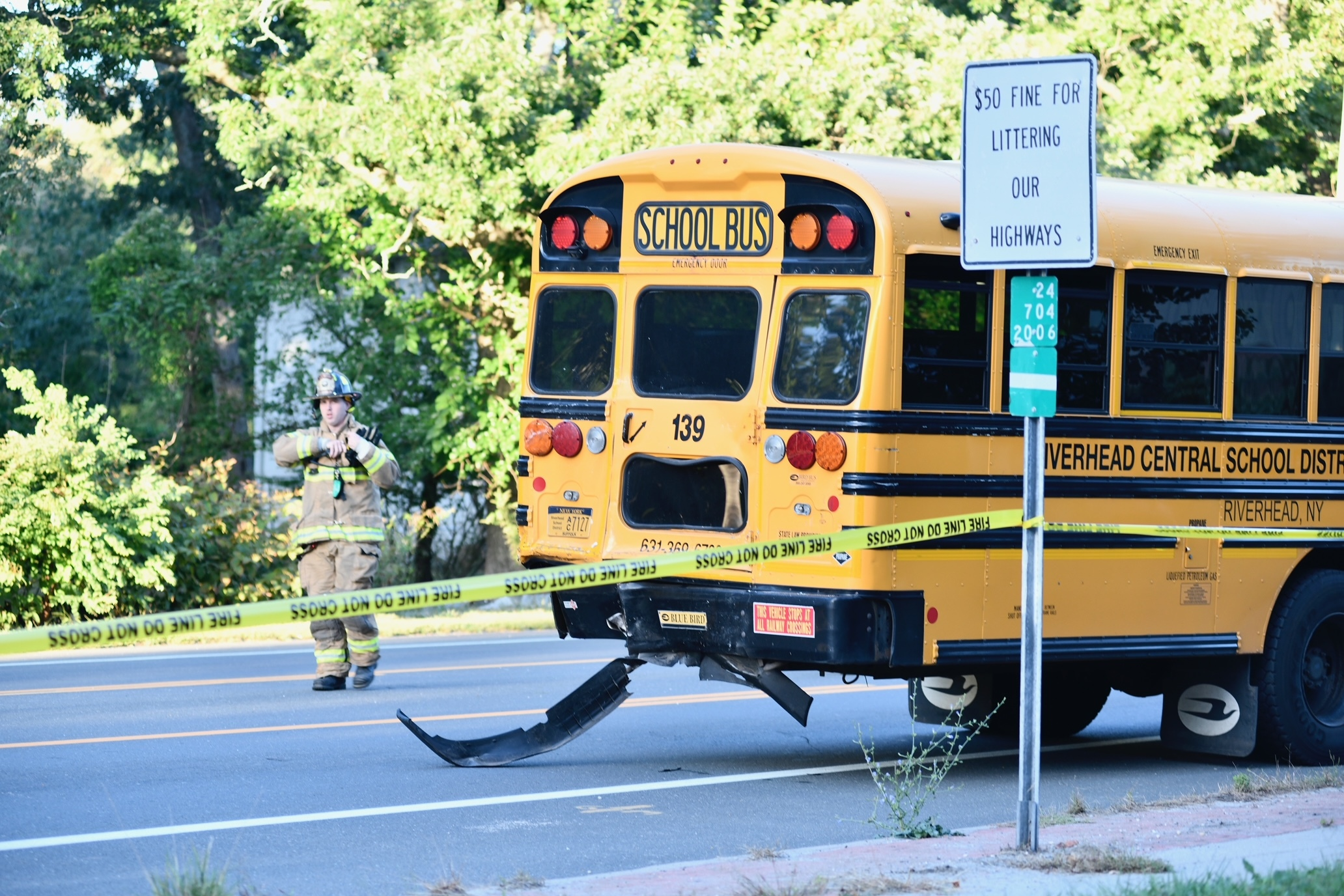Because a school bus was involved, the call went out  to first responders as a mass casualty incident.