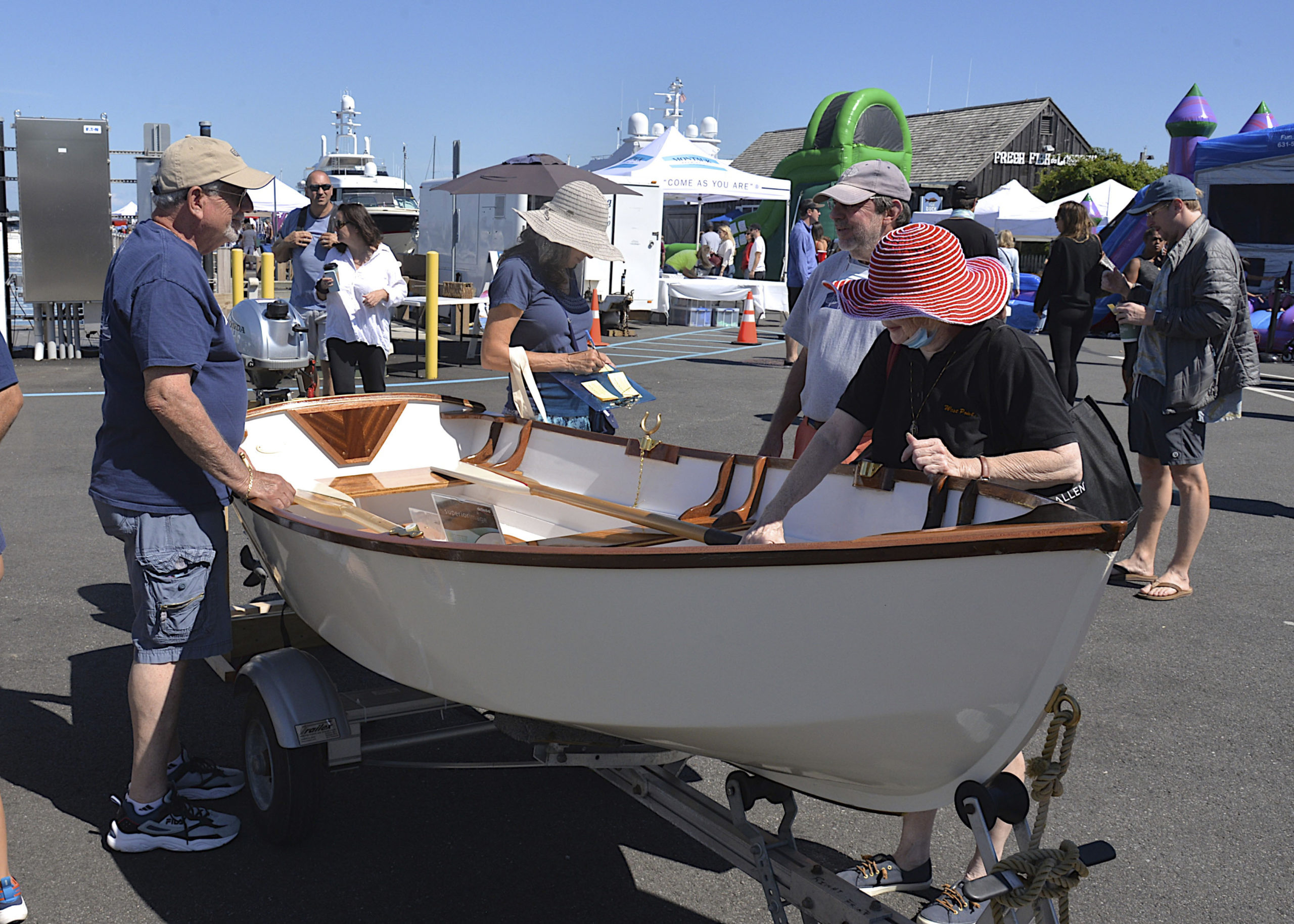 The East End Classic Boat Society at HarborFest.  KYRIL BROMLEY
