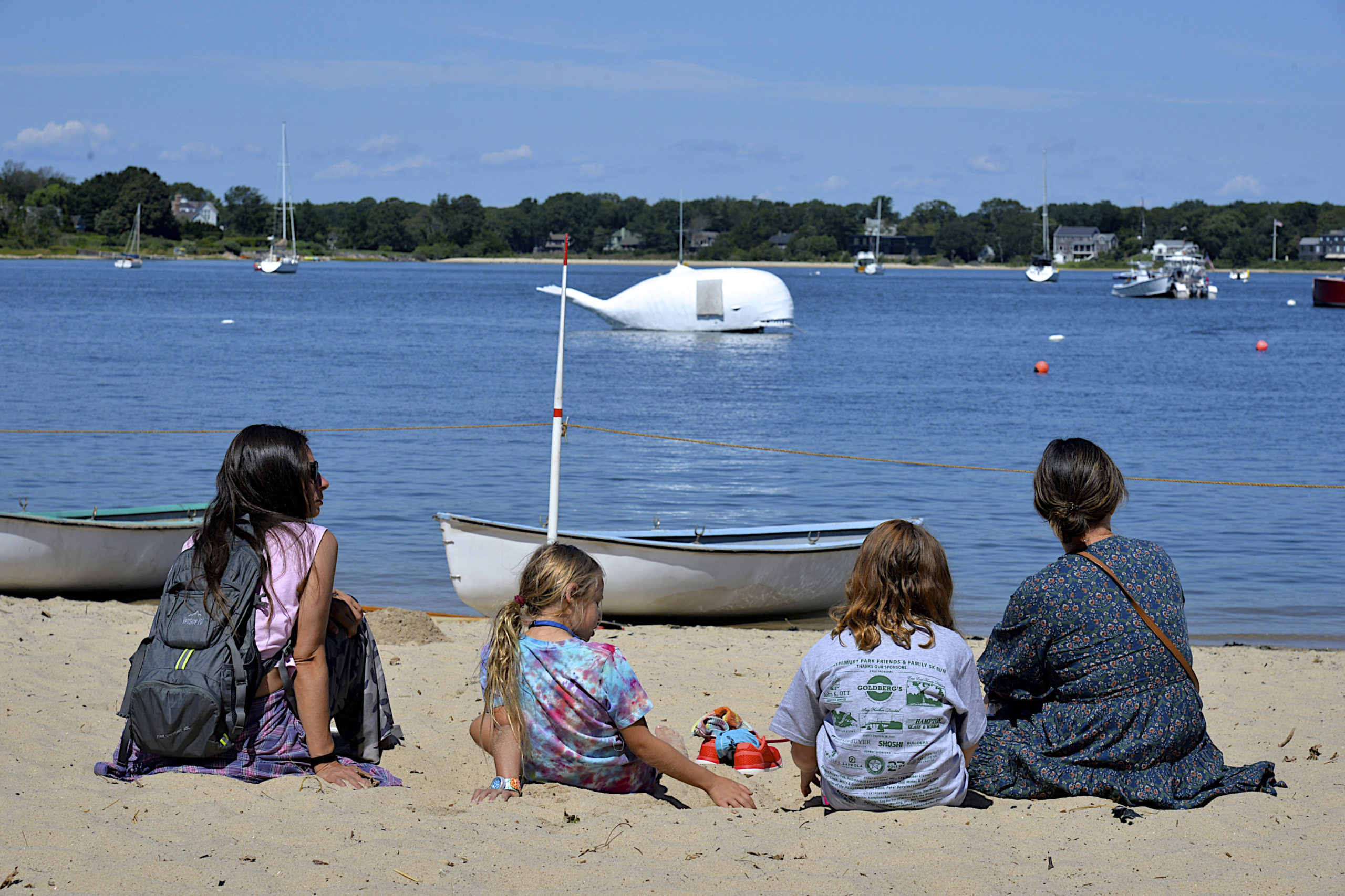Waiting for the start of the Whaleboat Races at HarborFest on Saturday.  KYRIL BROMLEY