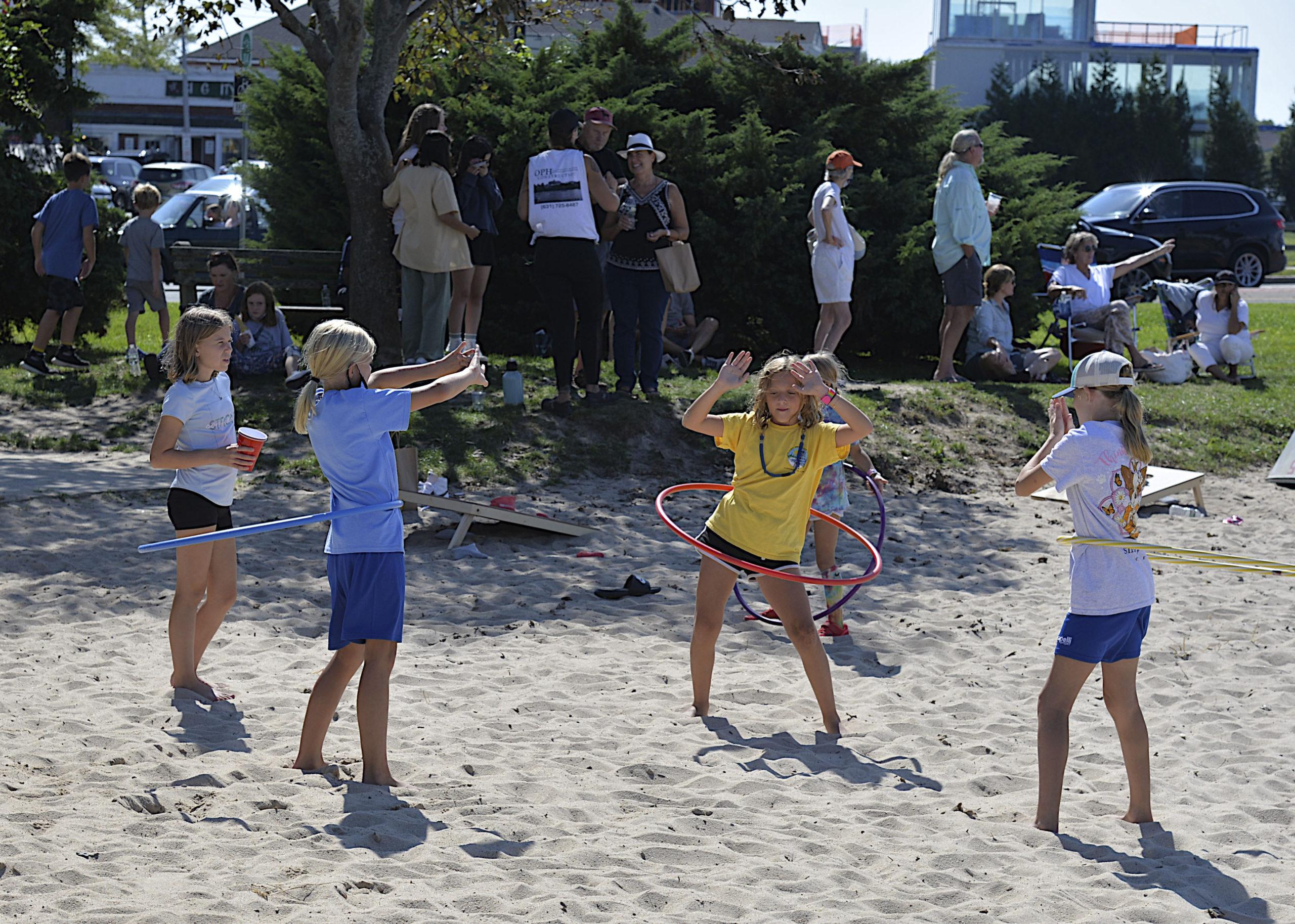 Hula hoops on Windmill Beach.  KYRIL BROMLEY