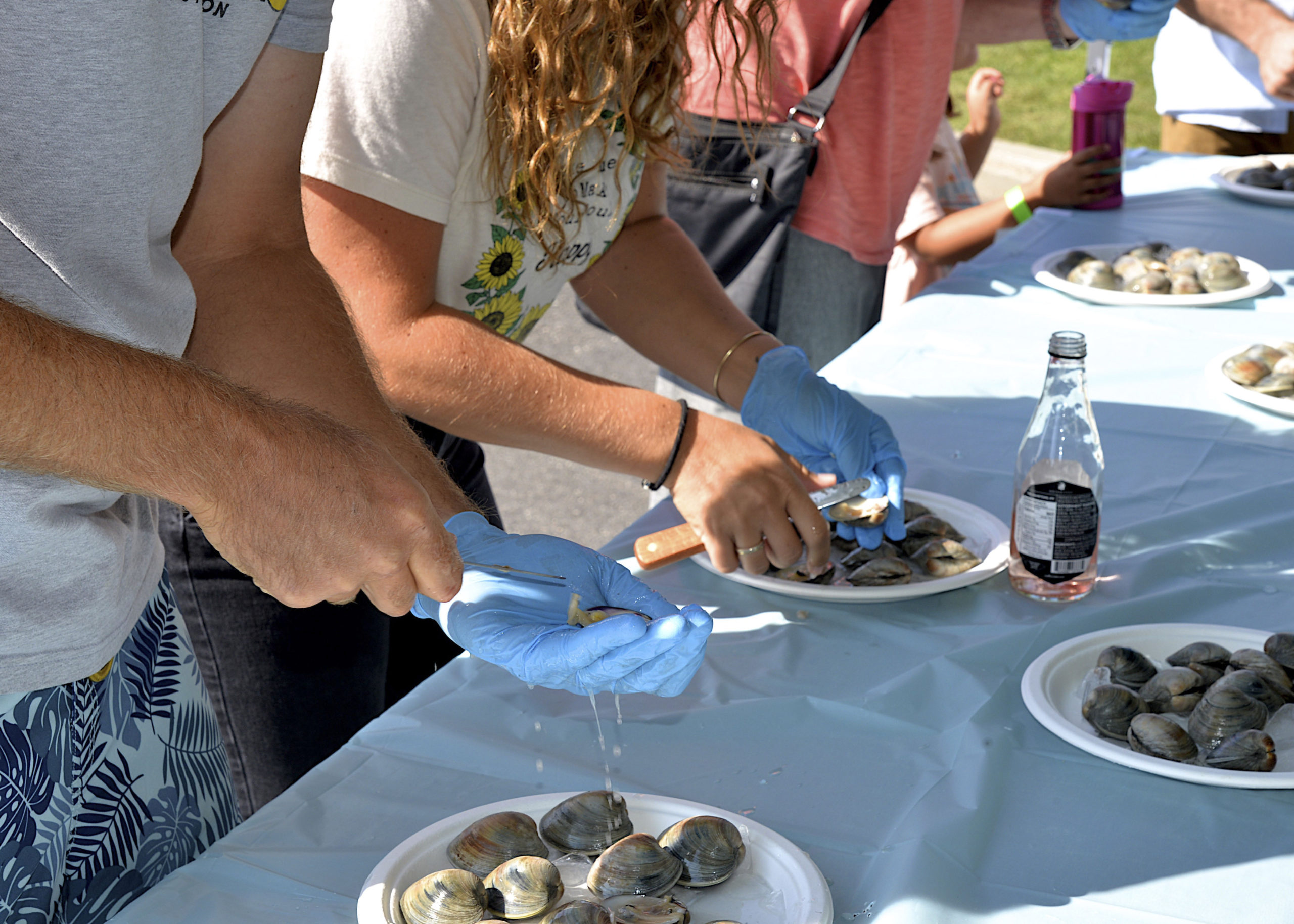 The clam shucking contest.   KYRIL BROMLEY