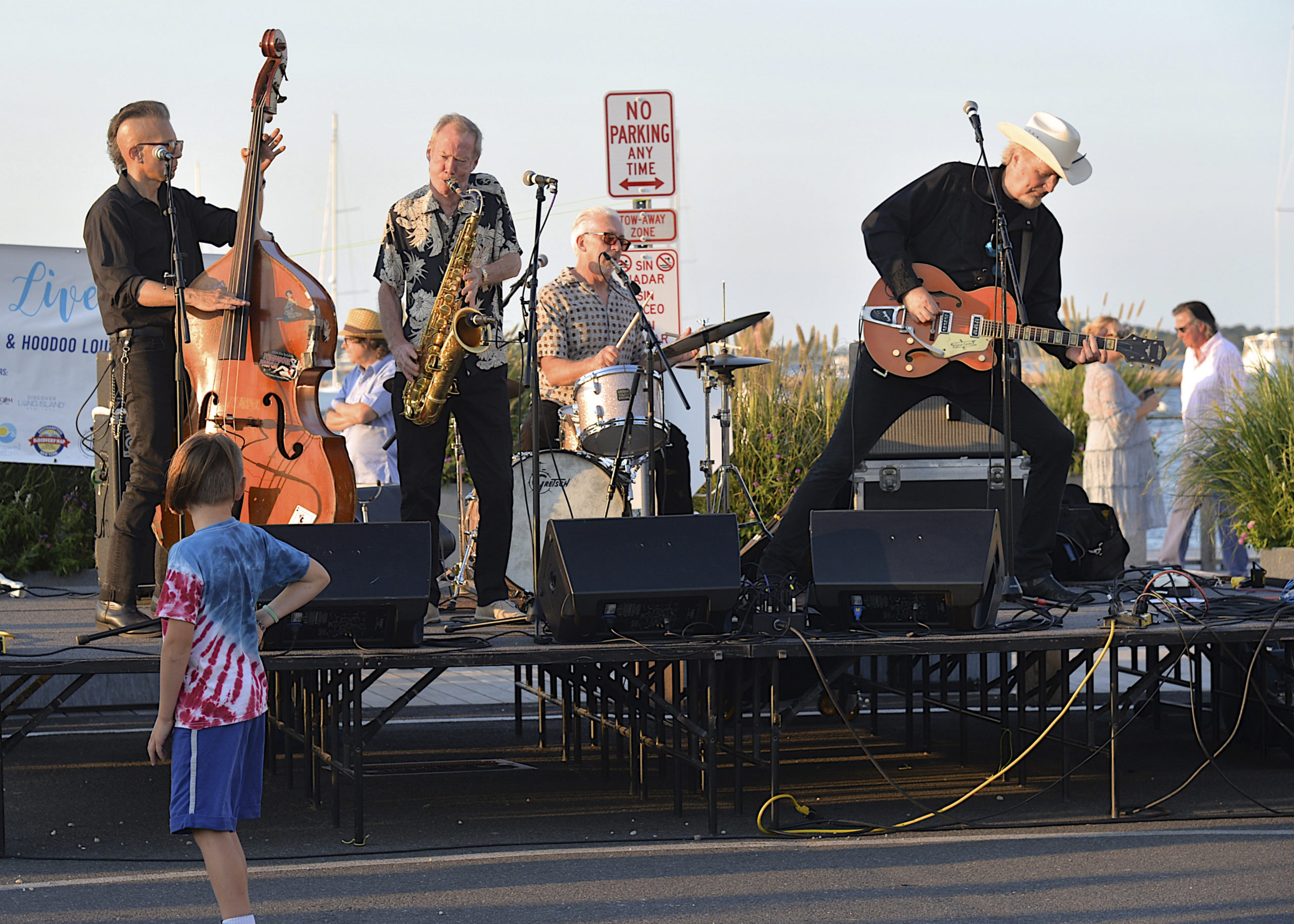 Gene Casey and the Loansharks perform on Long Wharf during HarborFest.  KYRIL BROMLEY