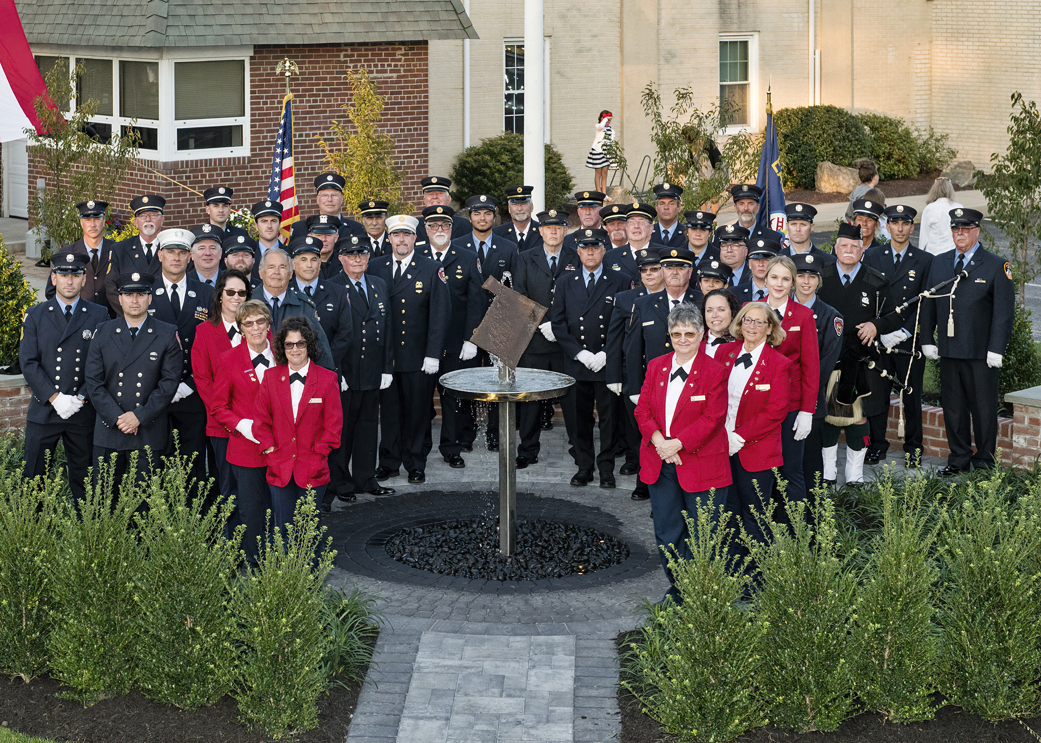 The East Quogue Fire Department hosted a 9/11 memorial ceremony on Saturday.  COURTESY WESTHMAPTON BEACH FIRE DEPARTMENT