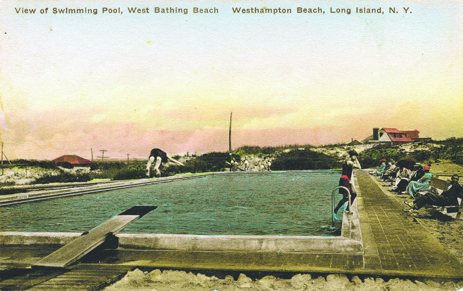Early postcards of the of the West Bay pool.   COURTRESY SWORDFISH BEACH CLUB