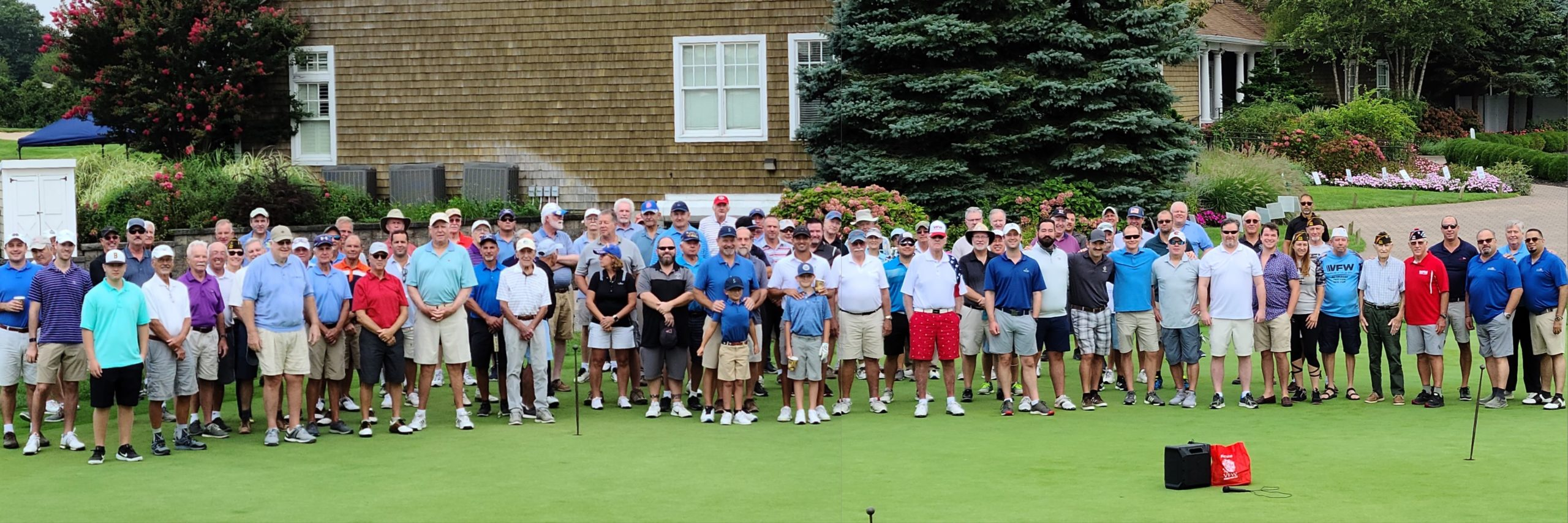 Golfers gathered at The Vineyards Golf Club in Riverhead in late August in support of the Veterans of Forign Wars Post 5350 of Westhampton, which had its annual golf outing.