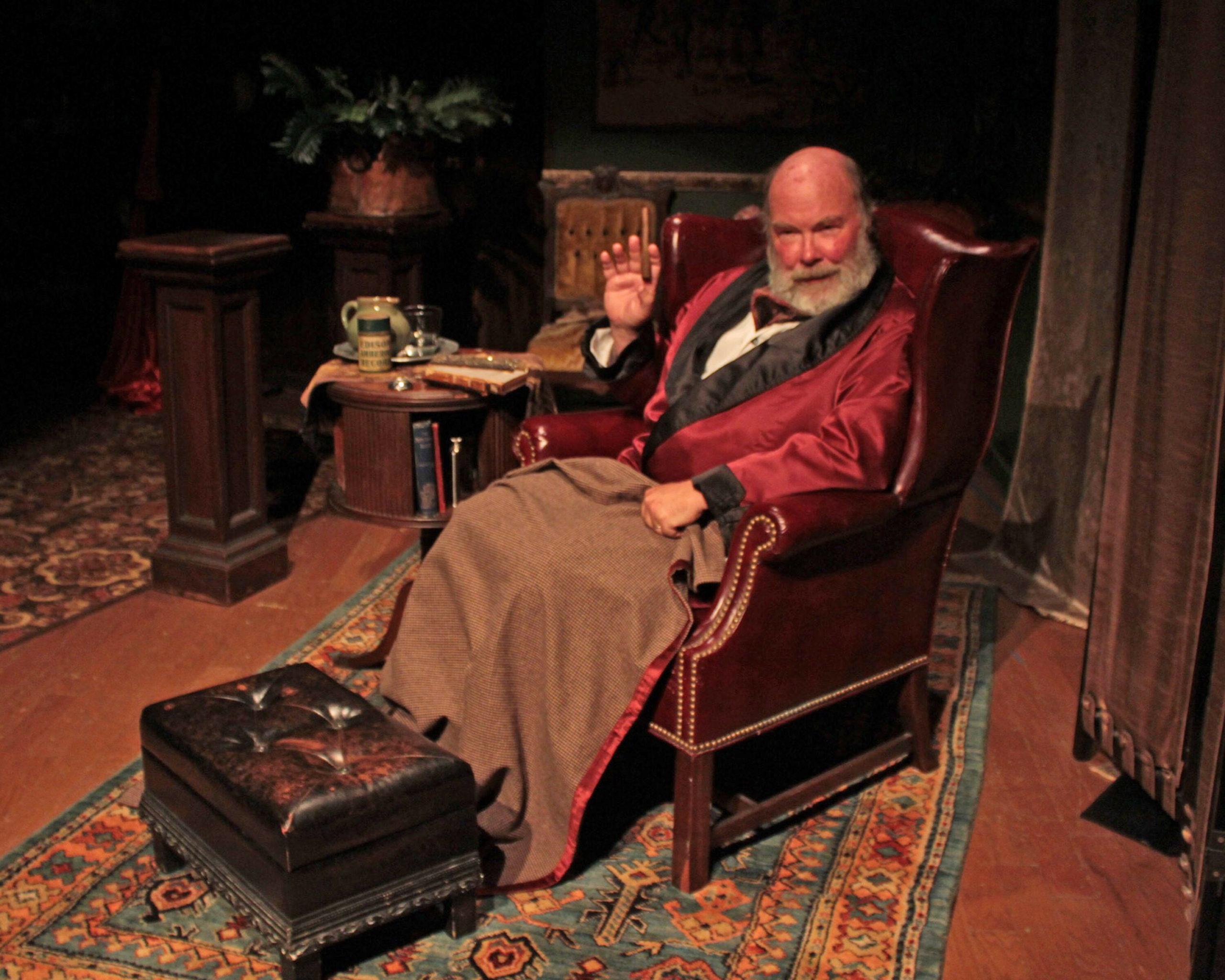 """Ken Dorph as Dr. Watson in """"Sherlock's Secret Life"""" at SCC."""