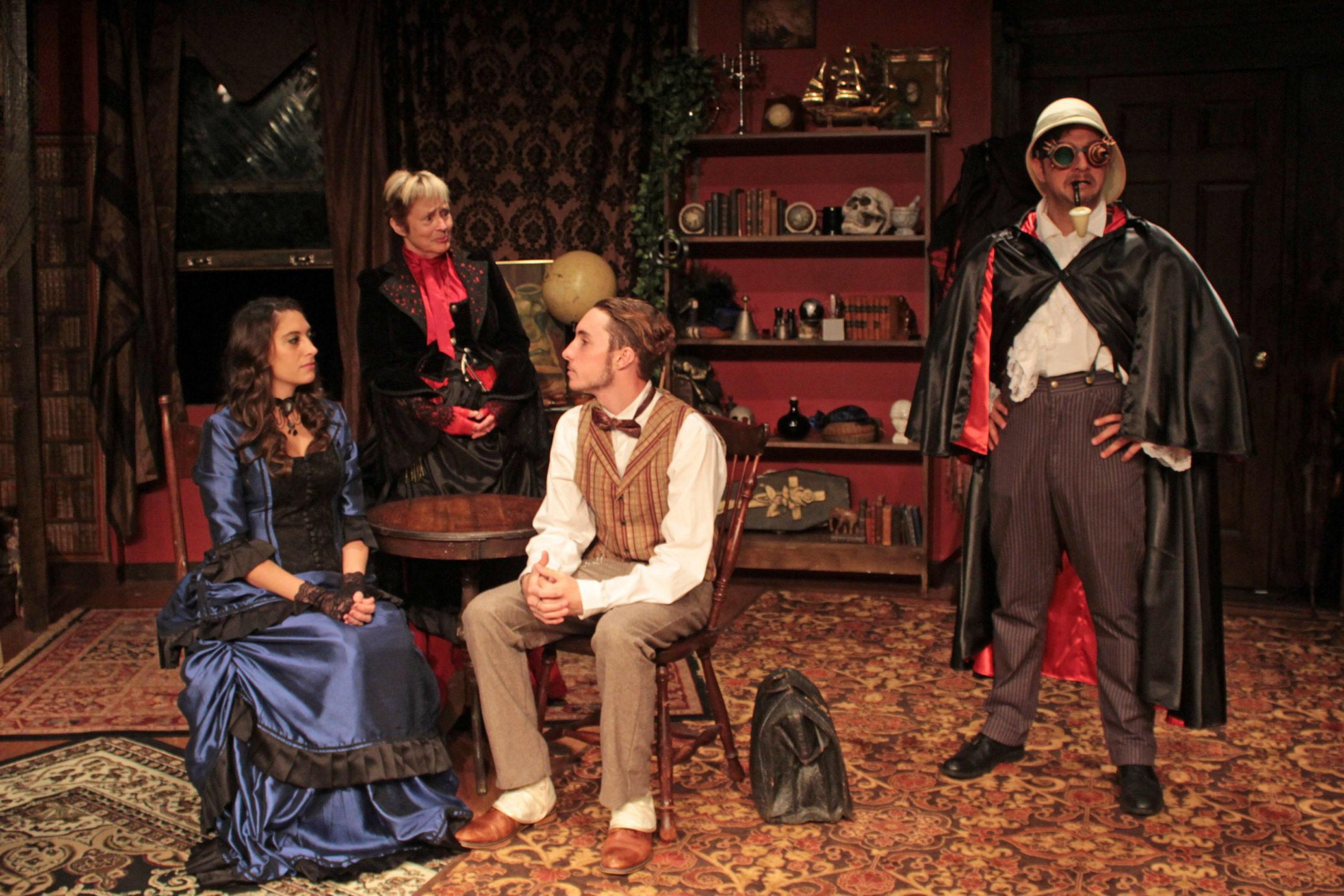 "Alyssa Kelly, Bonnie Grice, Lance Schroeder and Tom Rosante in ""Sherlock's Secret Life"" at SCC."