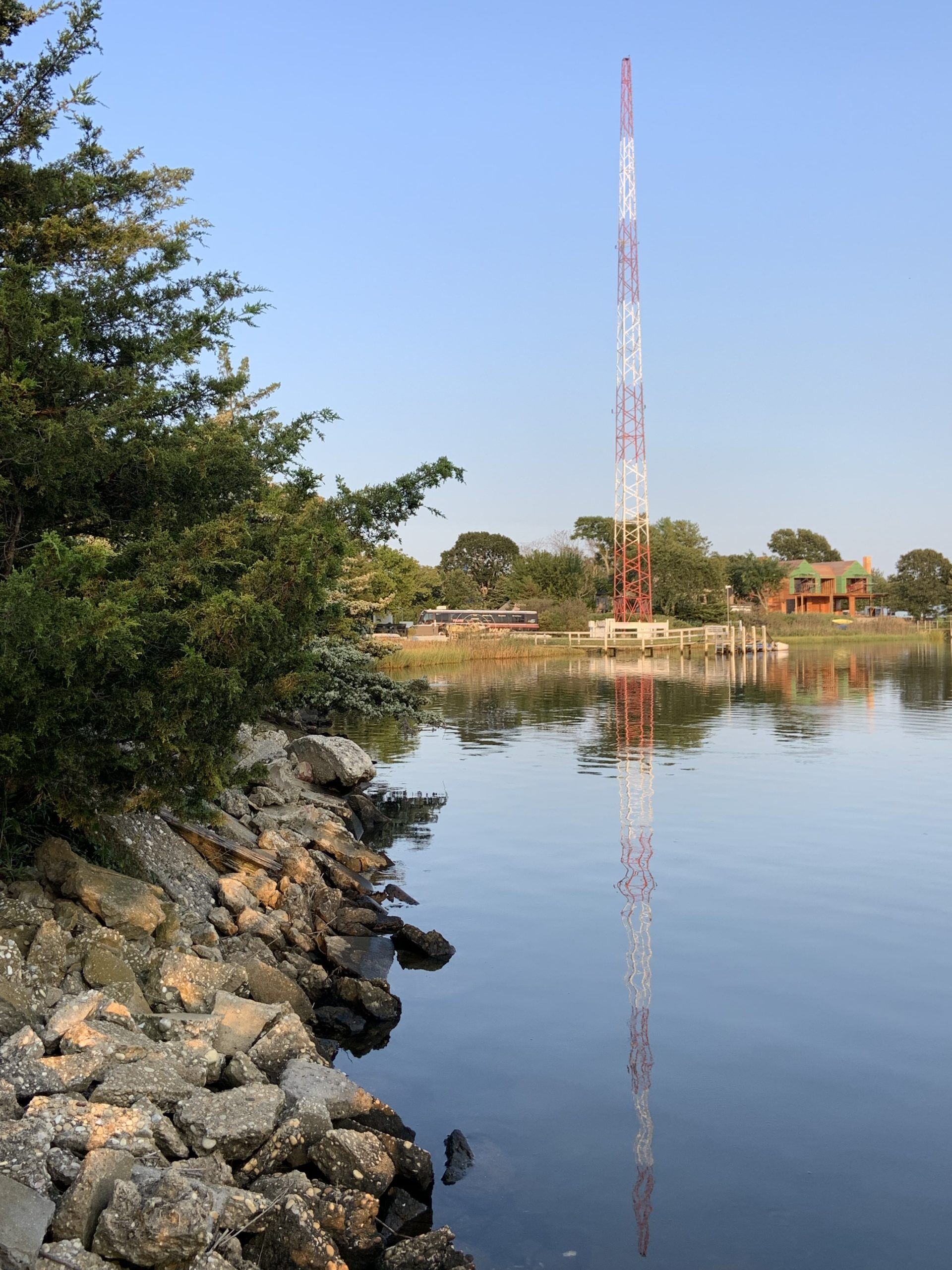 An application has been submitted with Sag Harbor Village to  replace the WLNG radio tower with a monopole that could provide space for up to 18 concealed antennas for cell service and other uses. STEPHEN J. KOTZ