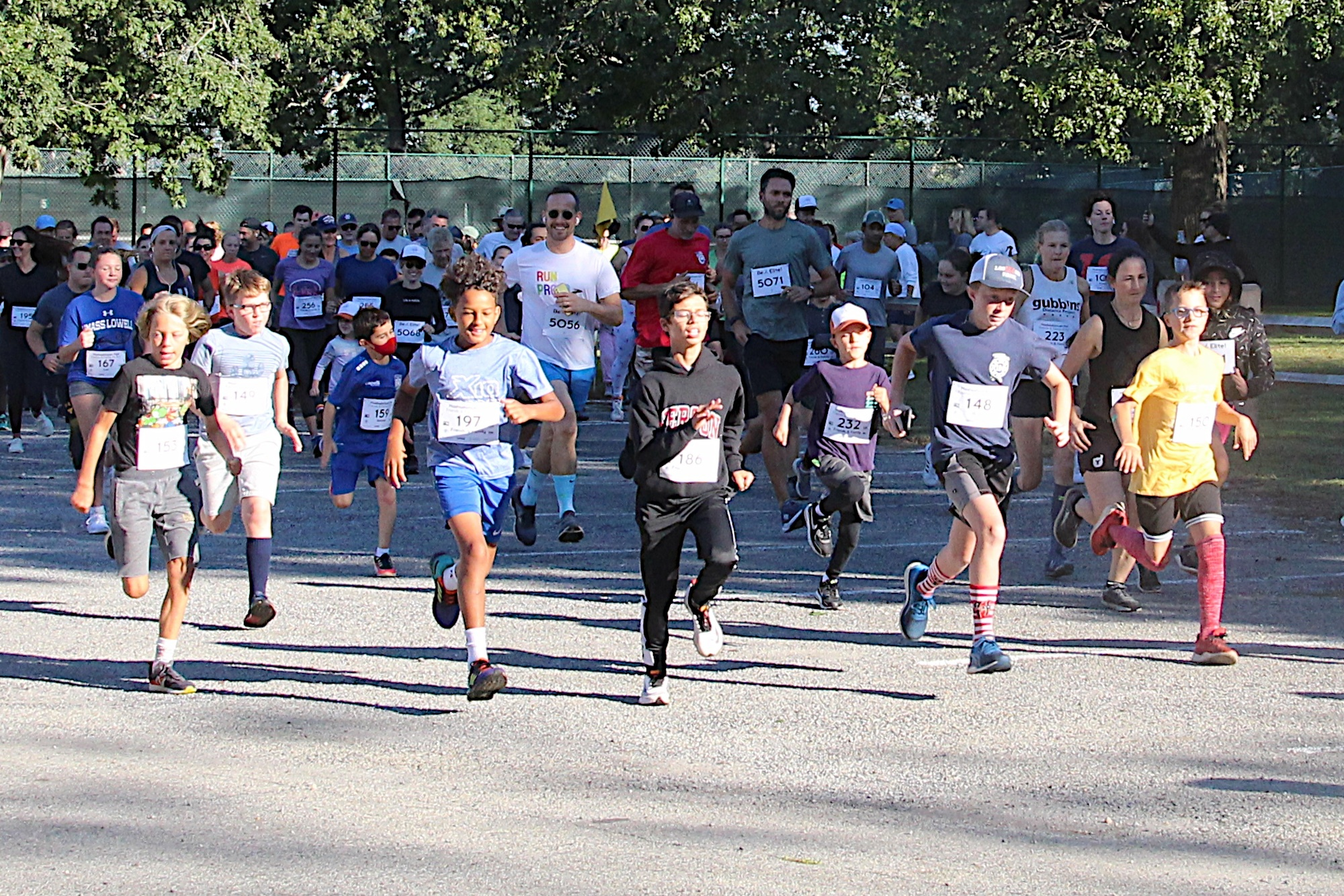 Runners enjoy the first ever Mashashimuet Park Friends and Family 5K Run in Sag Harbor on Saturday.