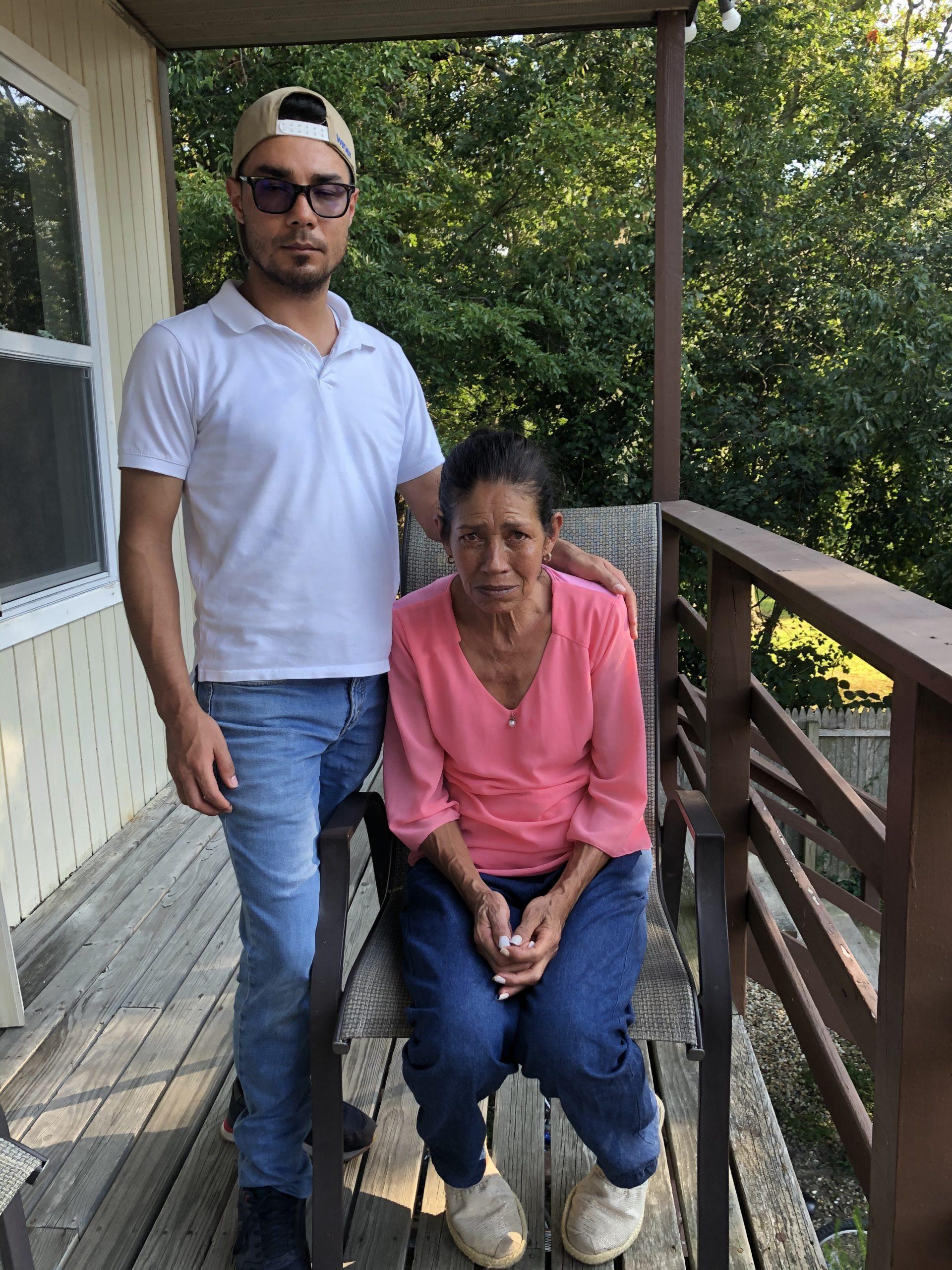 The victim's  brother, Fredy Usma Quintero, and mother, Miryam Quintero Duque. T.E. MCMORROW