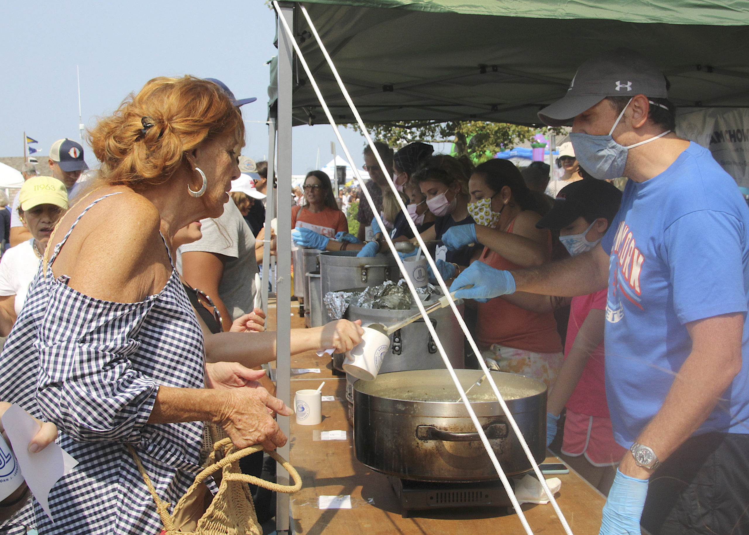 The clam chowder contest on Sunday.  KYRIL BROMLEY