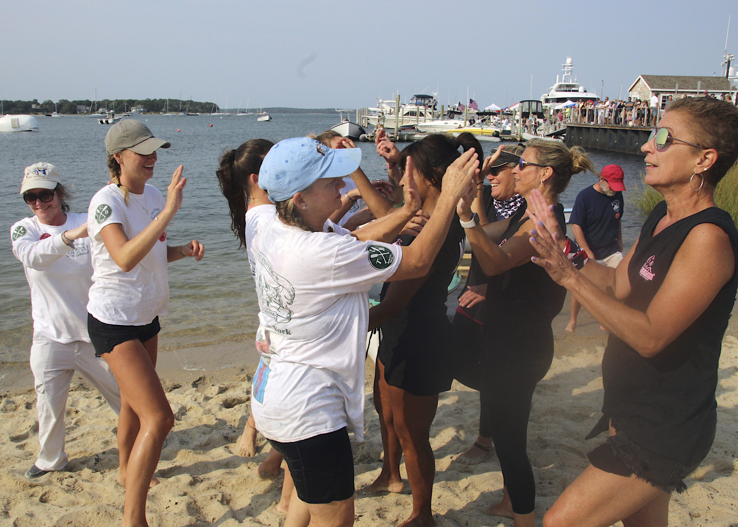 The champion women's whaleboat team from C's Home & Office Management.  KYRIL BROMLEY
