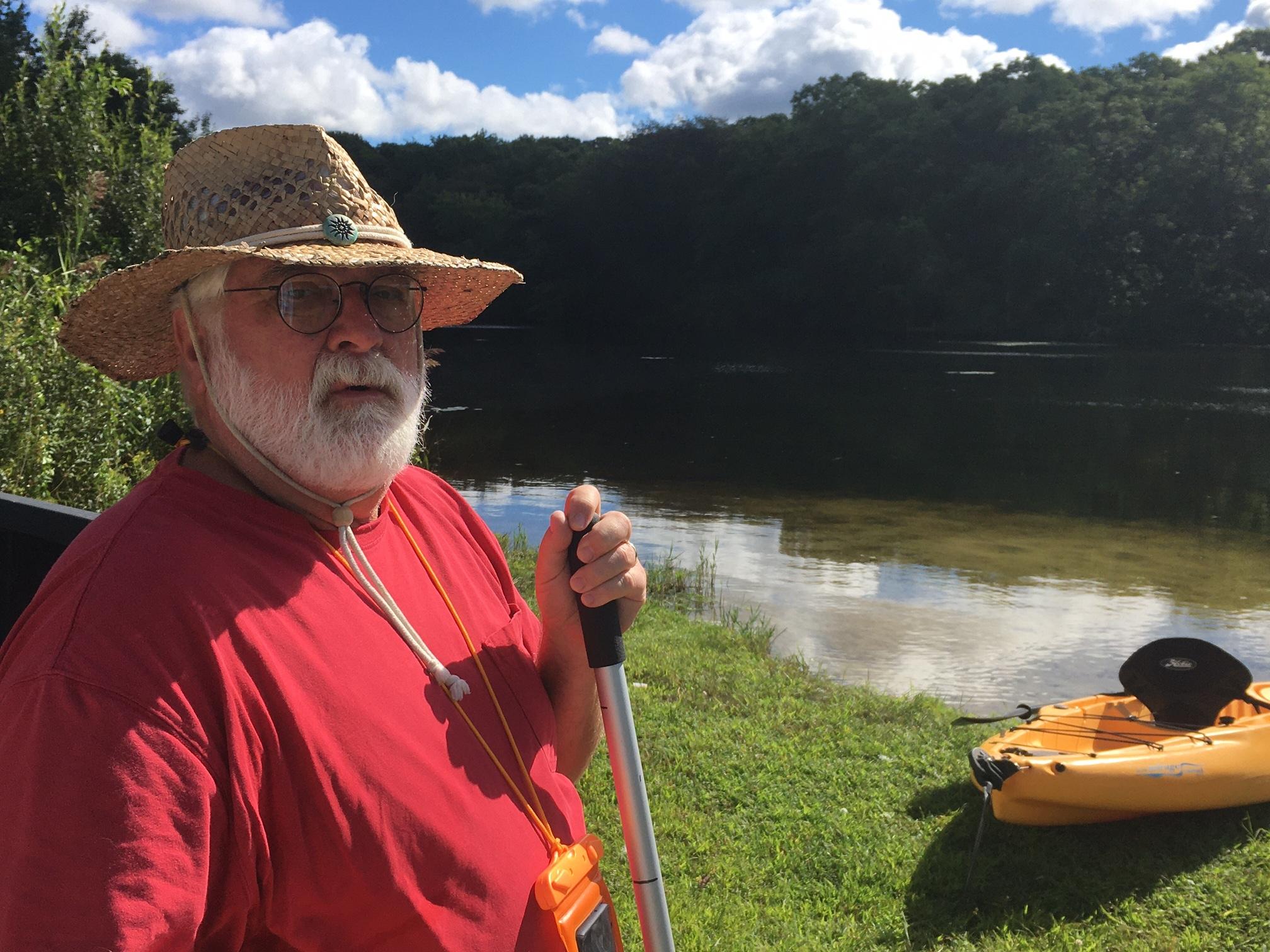 Robert Mozer at East Pond in Eastport.