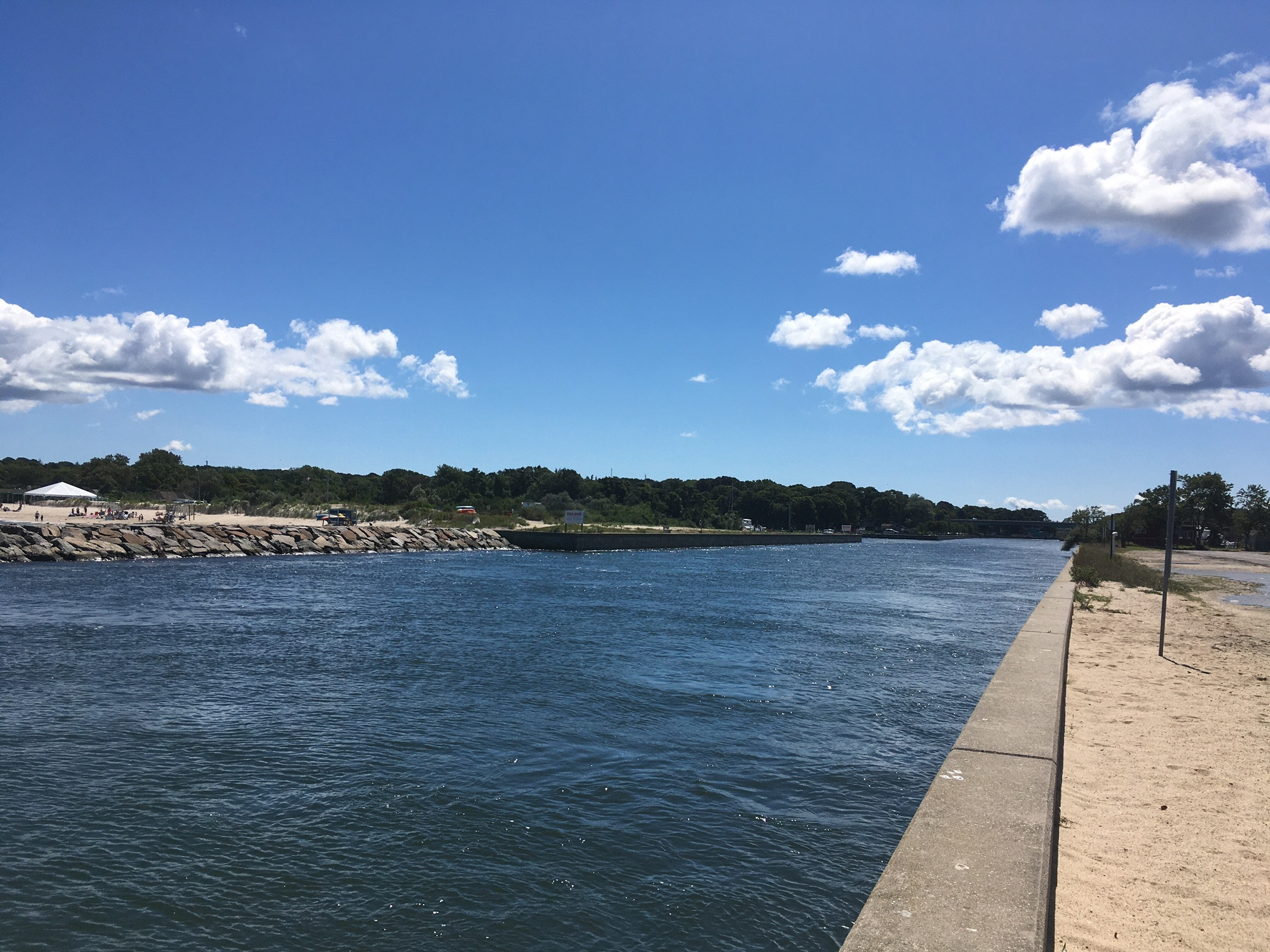 A new water main under the Shinnecock Canal at Meschutt Beach will provide better water pressure for Hampton Bays Water District customers.