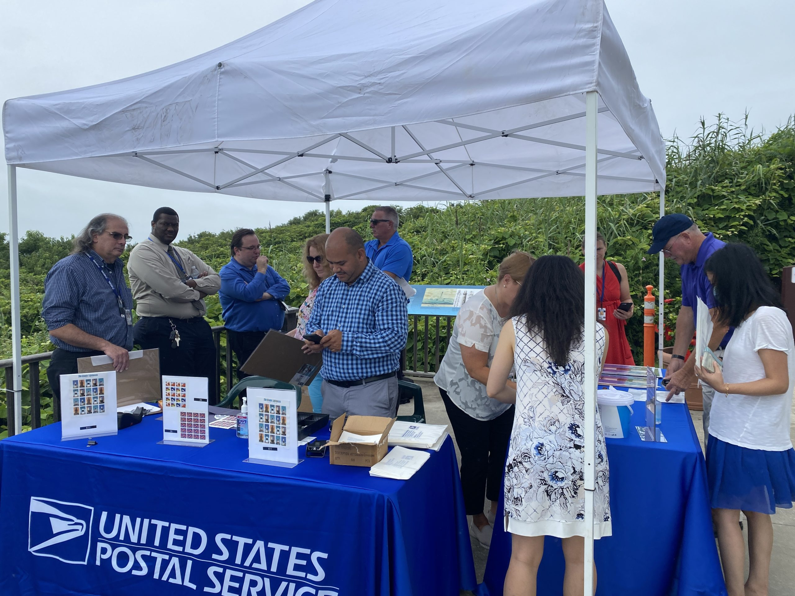 The United States Postal Service held an event in August at the Montauk Lighthouse to celebrate the rollout of the stamps. COURTESY MIA CERTIC