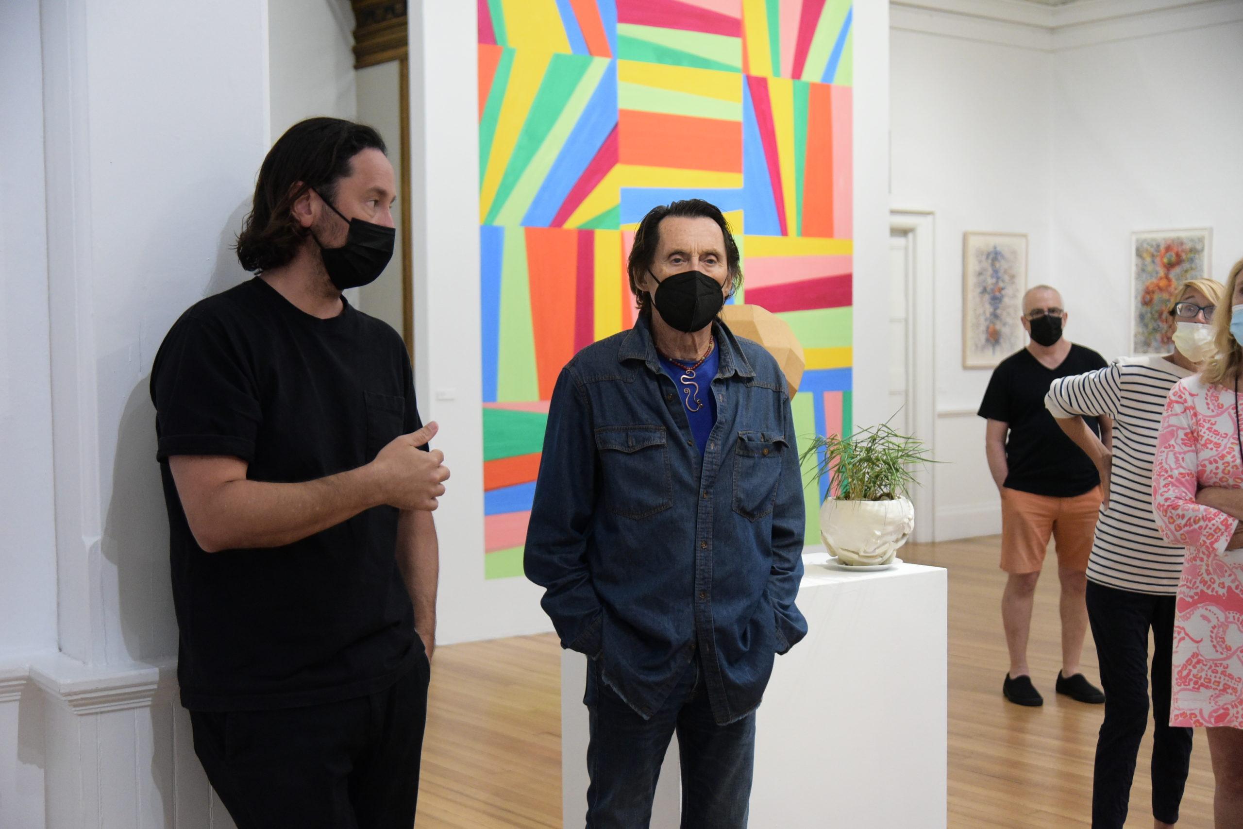 Curator Jay Davis and Amagansett artist Will Ryan touring