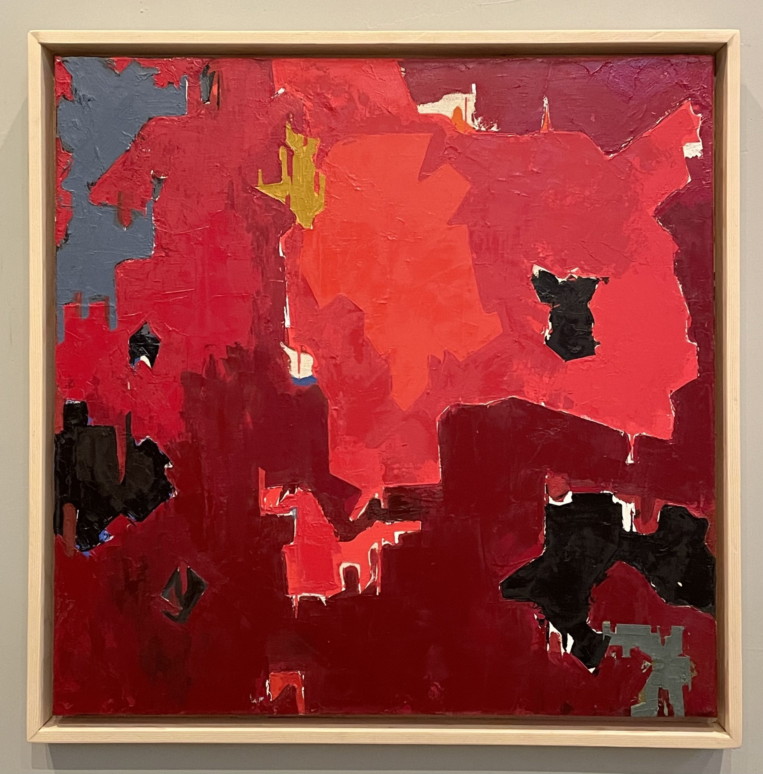 """Kevin Teare """"Clyfford Still As Gerrymandered Republican Congressional Districts,"""" 2020. Oil on canvas, 25"""" x 25""""."""