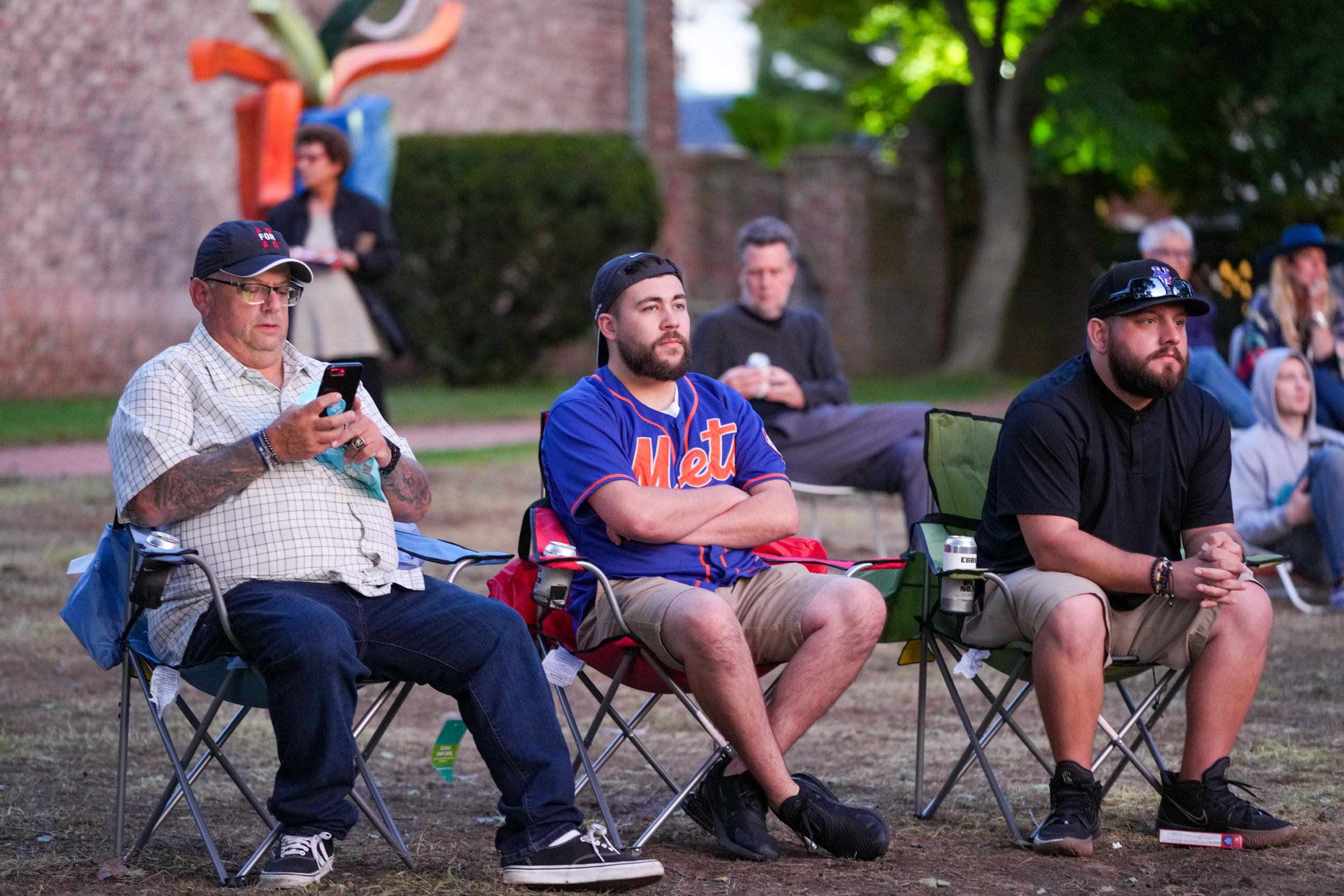 A good crowd of Mets fans traveled to the Southampton Arts Center to watch the first two parts of