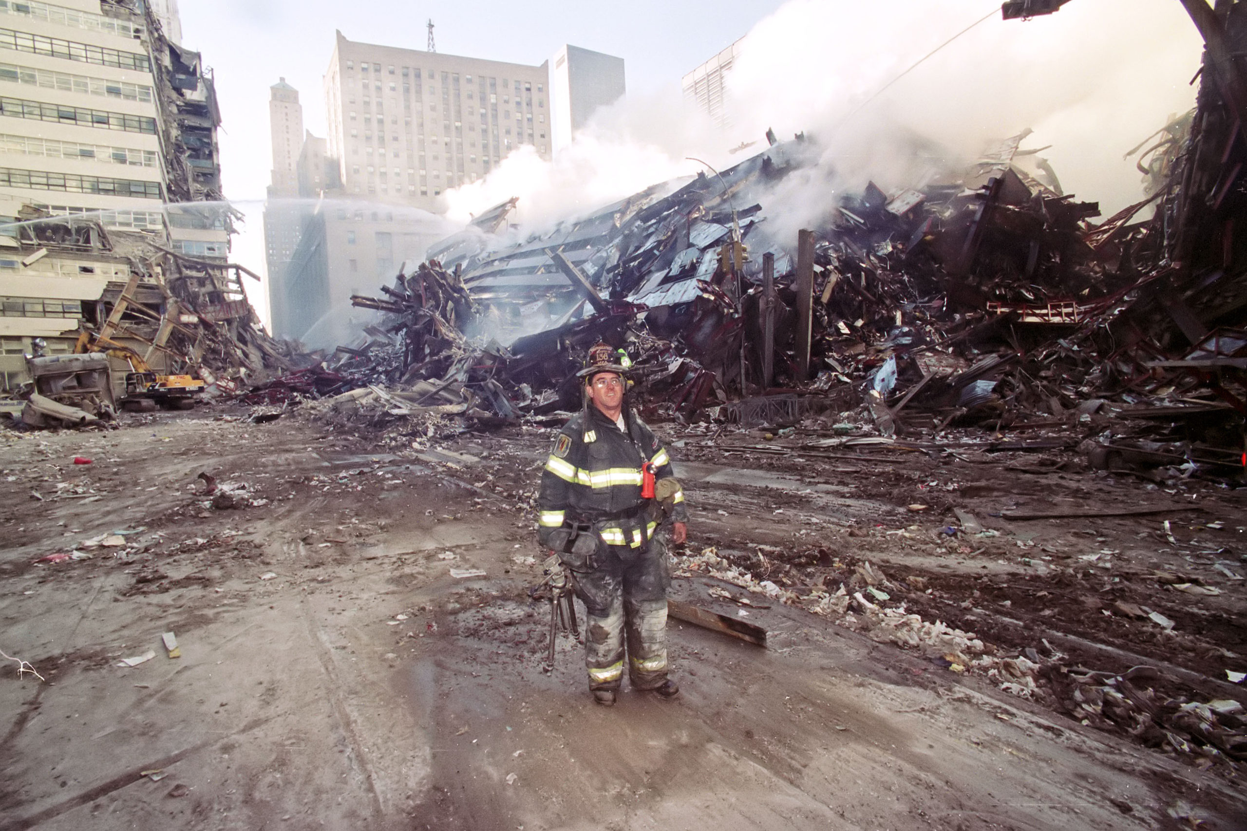 Firefighter and photojournalist Michael Heller.