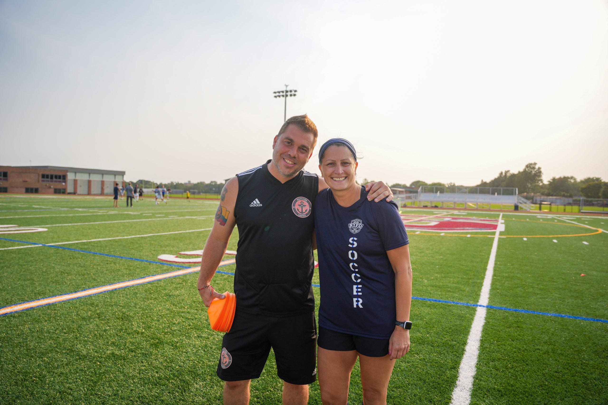 Gregory Fink, left, and Jennifer Marino.