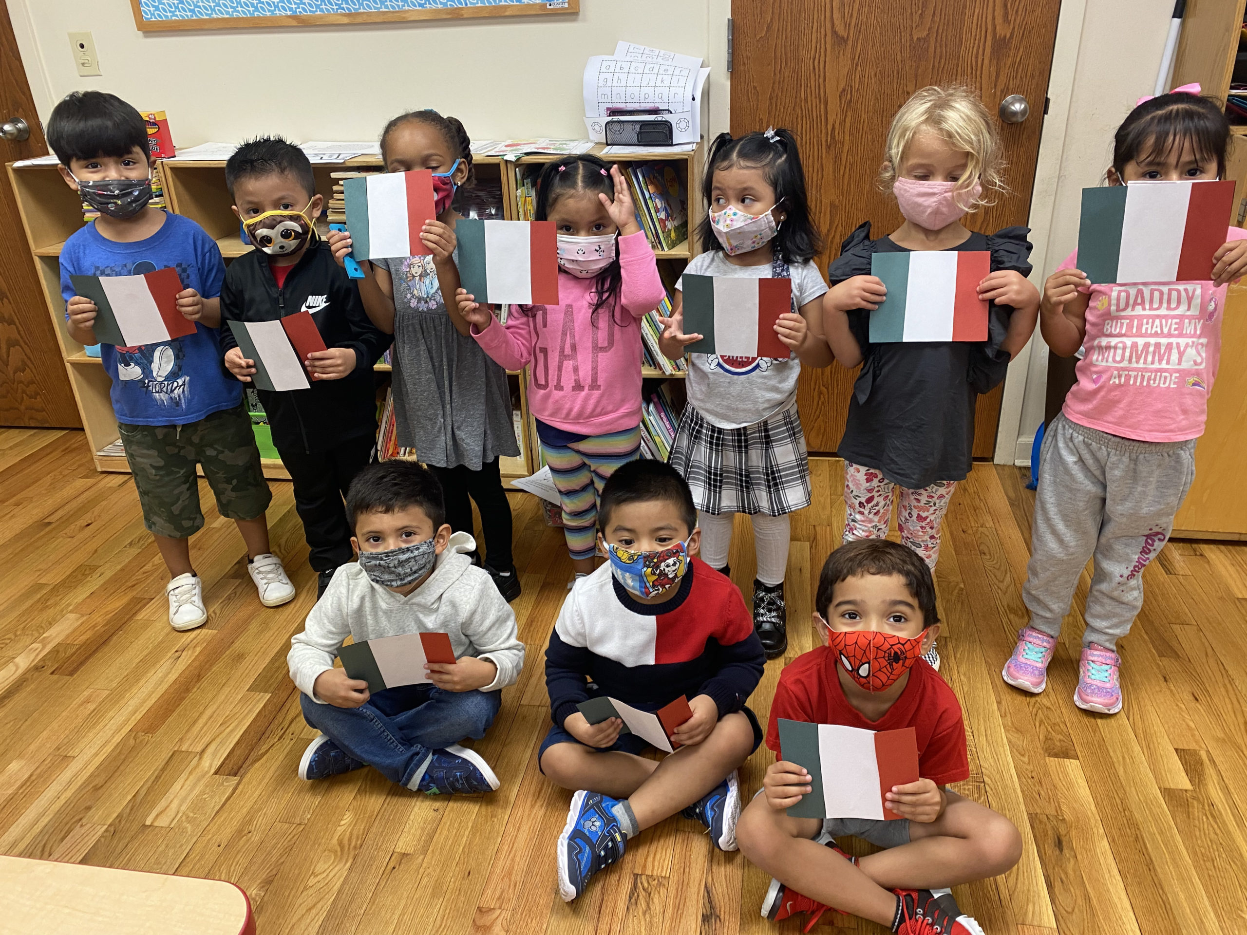 Our Lady of the Hamptons preschoolers recently took part in a Hispanic Heritage Month celebration.