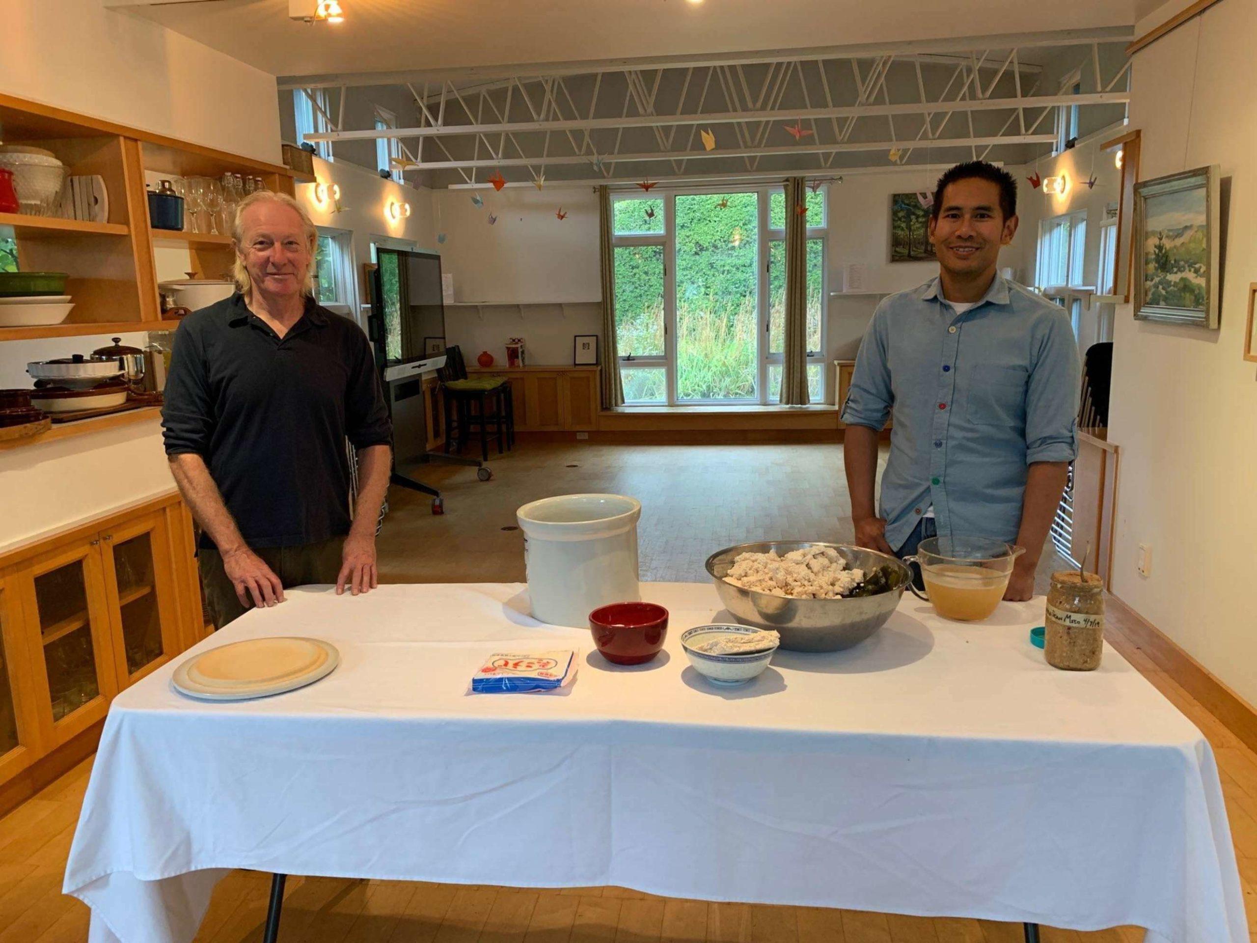 Rick Bogus and Justin Ruaysamran will offer a workshop in miso making at Bridge Gardens.