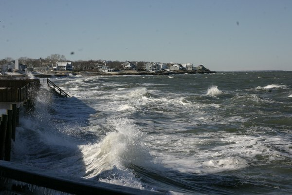 Properties along Soundview Drive and Capt. Kidd's Path have seen severe erosion and are hit hard by storms. Homeowners sued, blaming the Montauk Harbor jetties for the erosion but federal courts have dismissed the suit.
