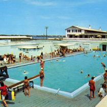 The Swordfish Club Pool in the early 1960s.  COURTESY SWORDFISH BEACH CLUB