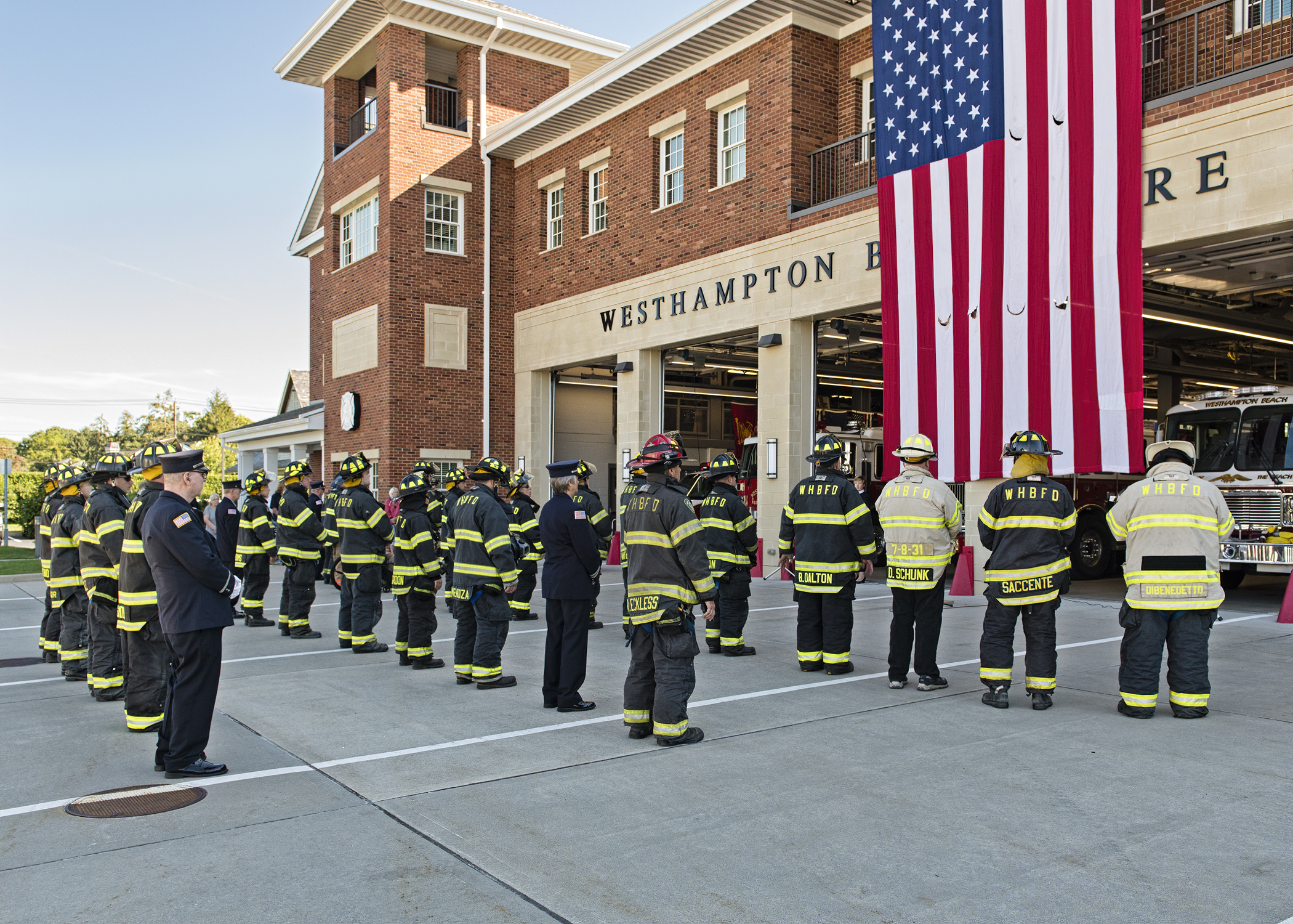 The Westhampton Beach Fire Department held a 9-11 ceremony at the Sunset Avenue firehouse on Saturday morning.