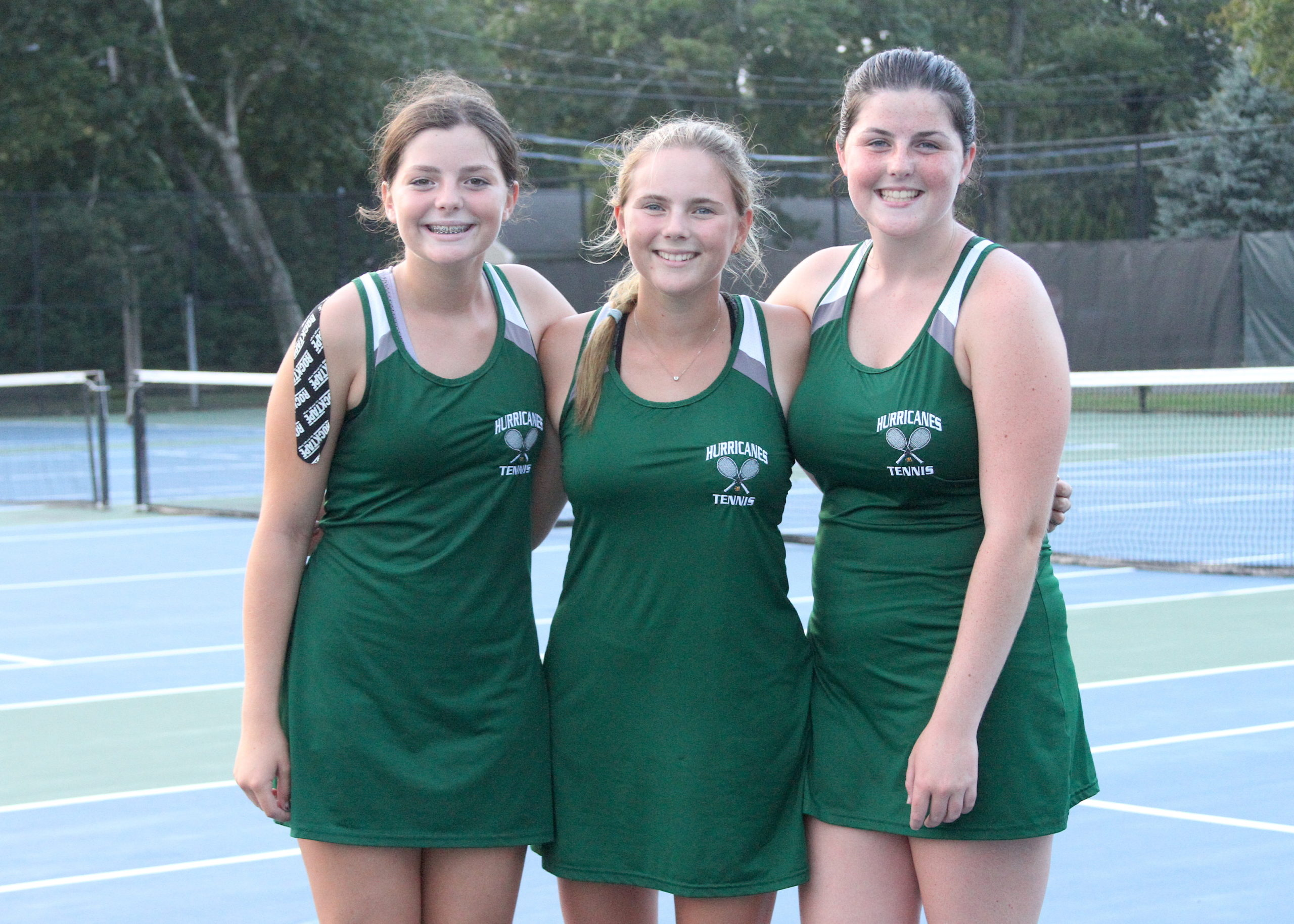 Westhampton Beach sister trio of Ana, Emma and Kylie Way are competing on varsity together for the first time this season. DESIRÉE KEEGAN