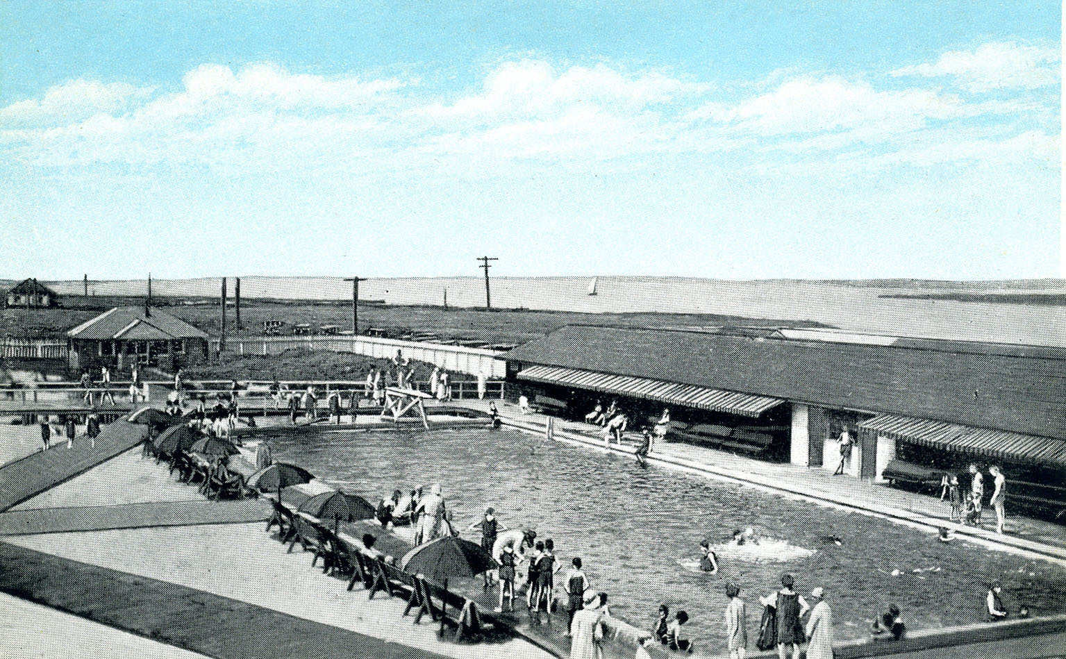 The West Bays pool in the late 1900s.  COURTESY SWORDFISH BEACH CLUB
