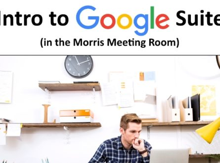 Intro to Google Suite 101 (In-person)