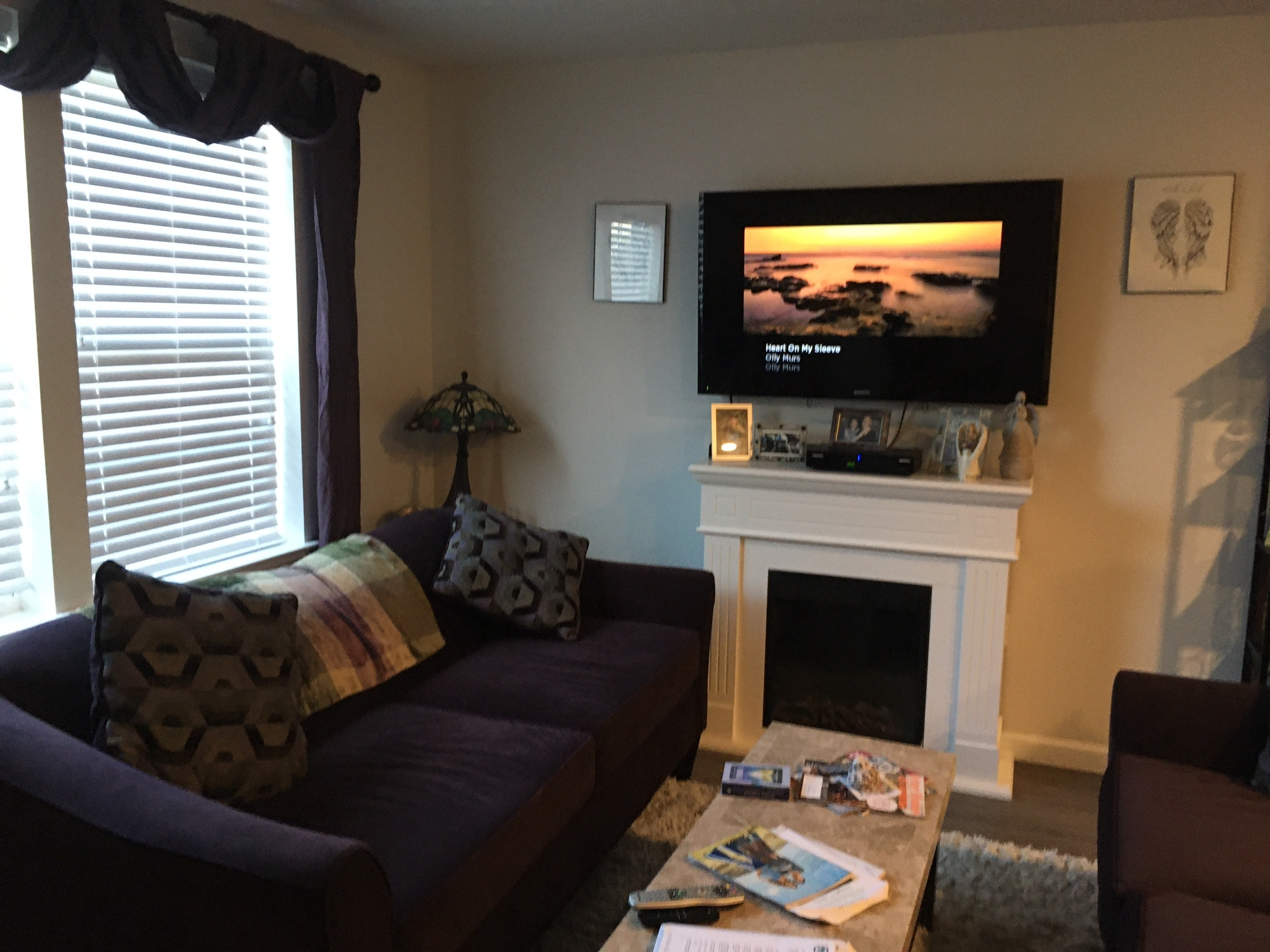 The living room space in one Liberty Station unit.
