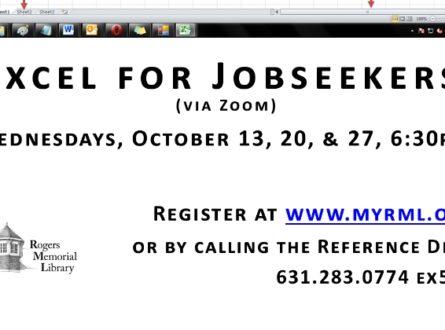 Excel for Job Seekers (via Zoom)