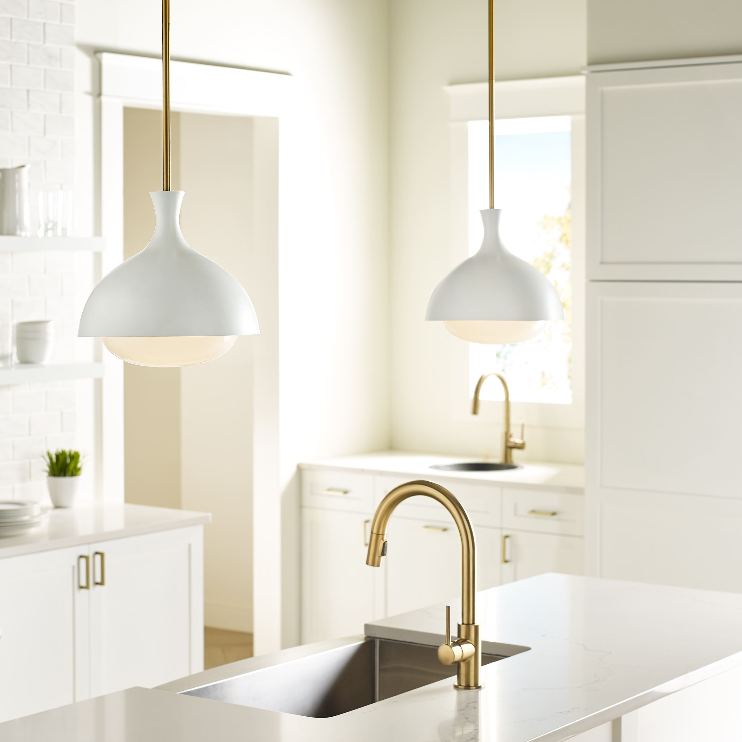 The Lucerne pendant, part of the AERIN by Generation Lighting Collection.